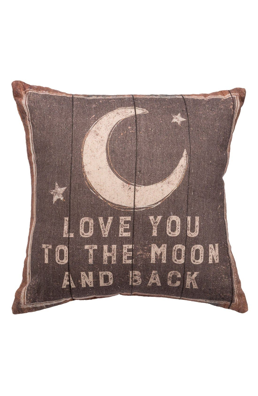 Alternate Image 1 Selected - Primitives by Kathy 'Love You to the Moon' Pillow