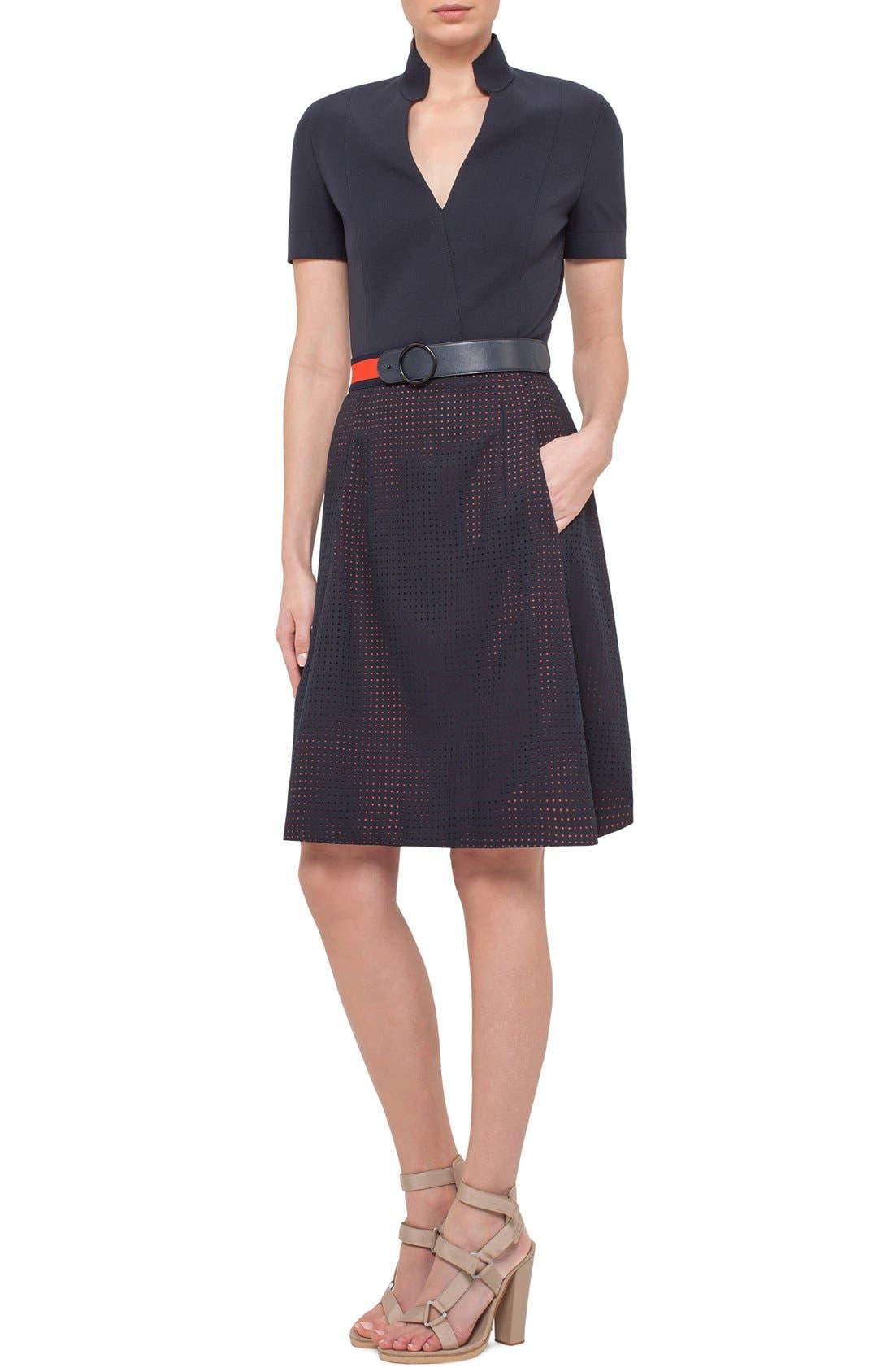 Alternate Image 3  - Akris punto Perforated Shirt Dress