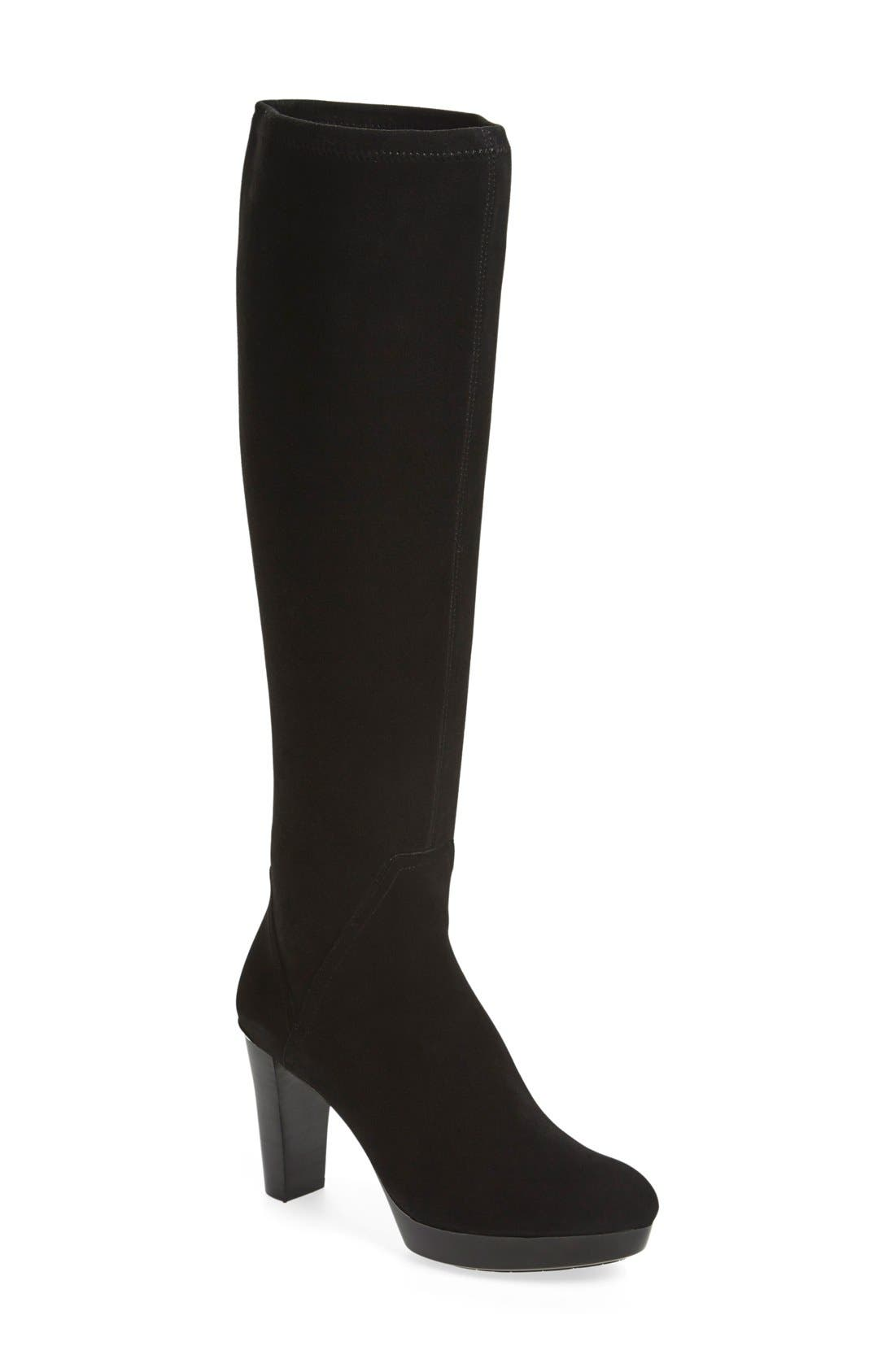 Alternate Image 1 Selected - Donald J Pliner 'Echoe' Stretch Suede Tall Boot (Women)