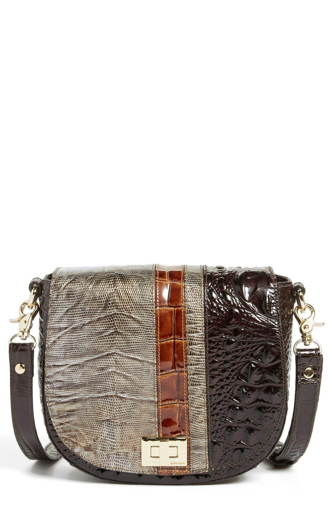 Alternate Image 1 Selected - Brahmin 'Tillie' Embossed Leather Crossbody Bag (Nordstrom Exclusive)