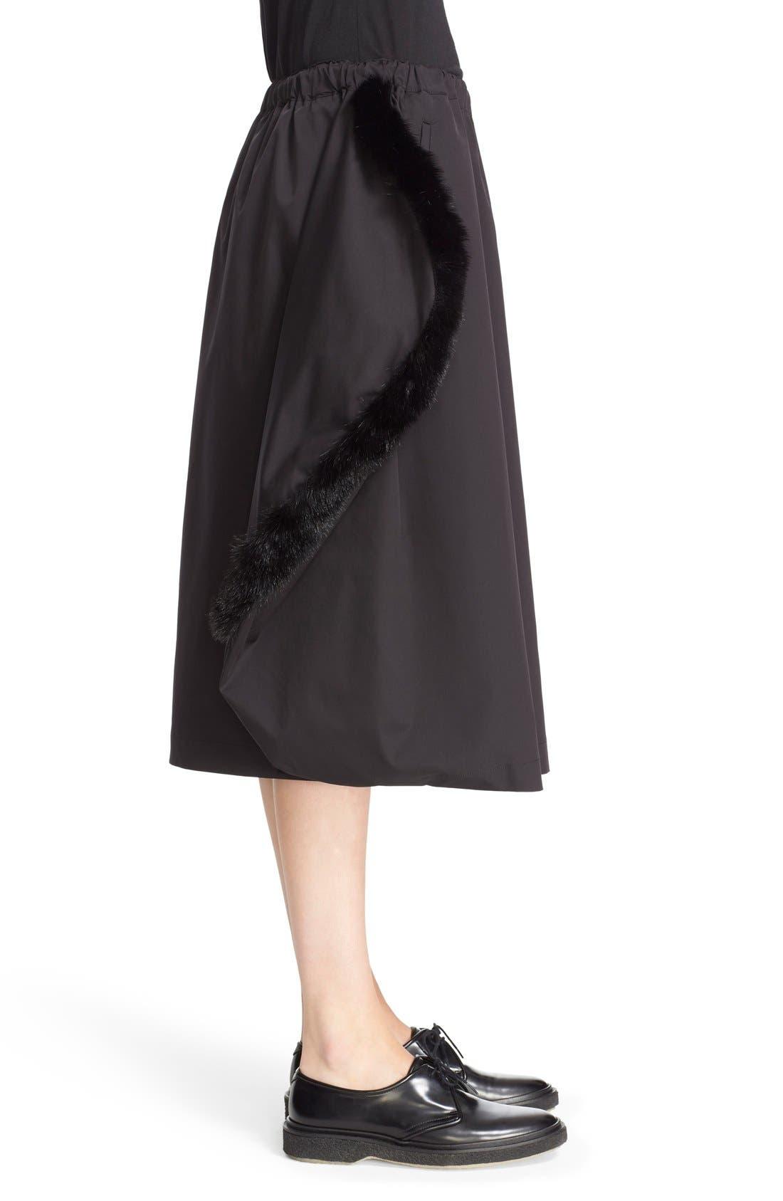 Alternate Image 5  - Comme des Garçons Stretch Twill Midi Skirt
