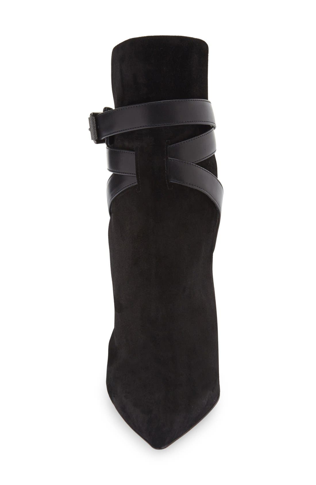 Alternate Image 3  - Christian Louboutin 'Pointipik Shield' Pointy Toe Open Back Bootie (Women)