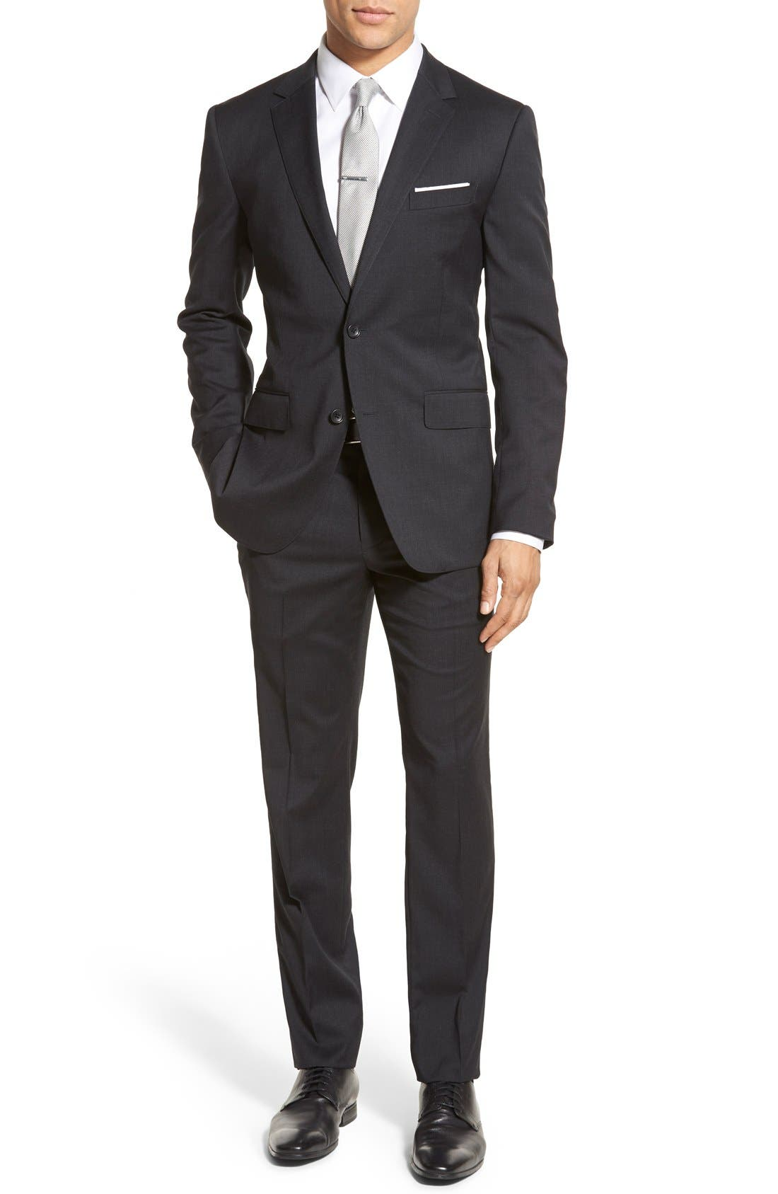 Bonobos 'Jetsetter' Trim Fit Sport Coat & Flat Front Trousers