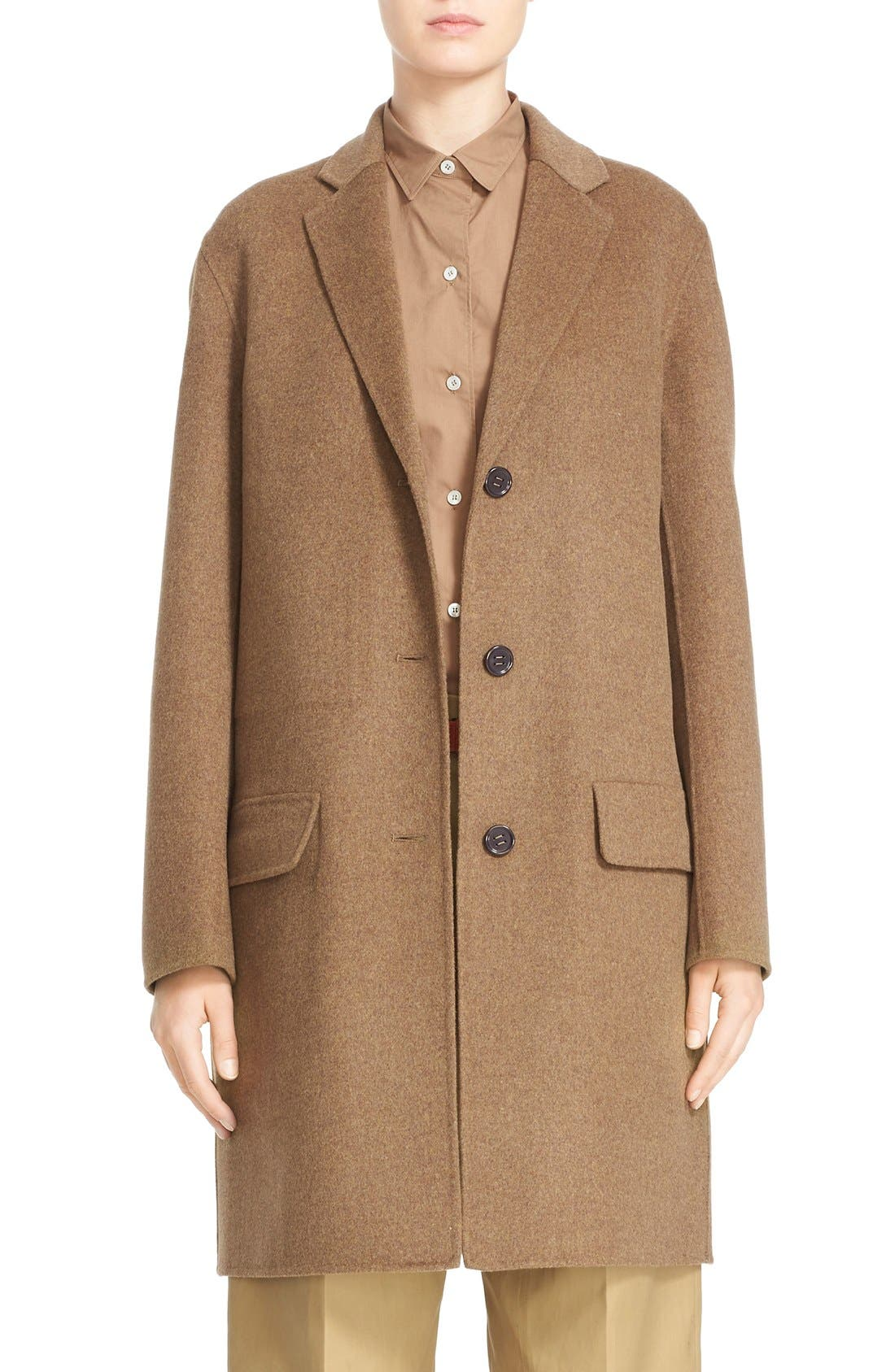 Alternate Image 1  - Sofie D'Hoore 'Click' Wool & Cashmere Long Coat
