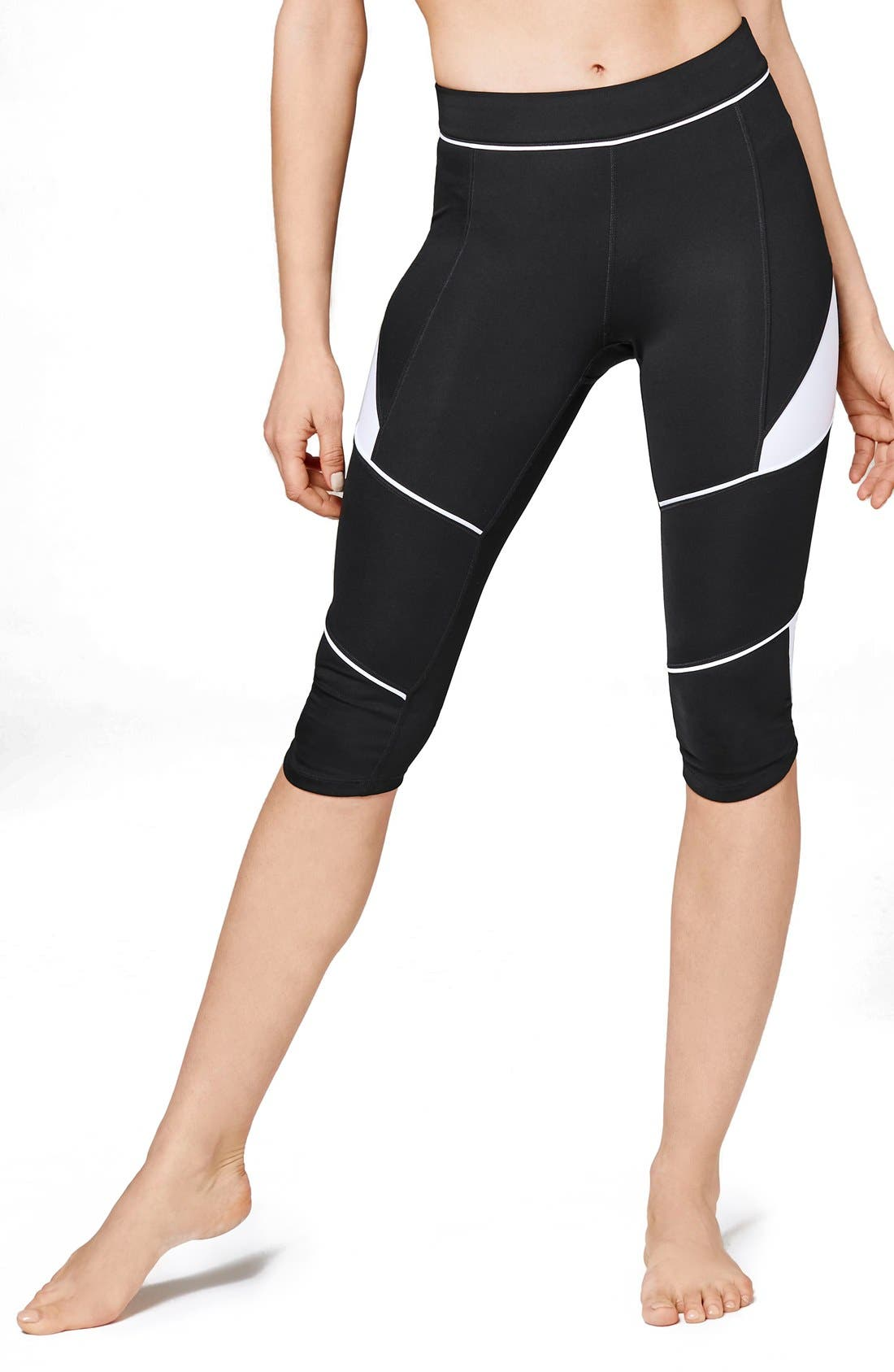 Main Image - IVY PARK® Biker Colorblock Capri Leggings