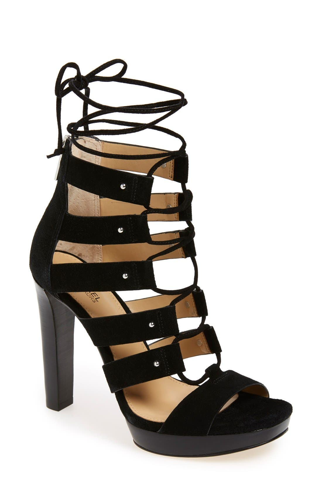 Alternate Image 1 Selected - MICHAEL Michael Kors 'Sofia' Platform Gladiator Sandal (Women)