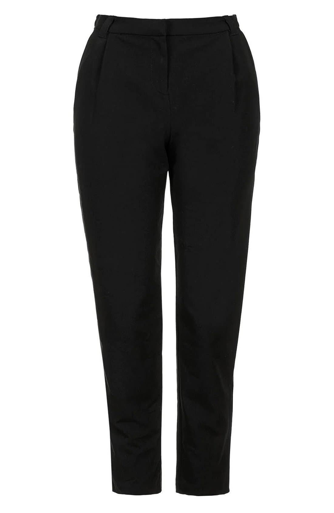 Alternate Image 4  - Topshop Pleated Tapered Trousers