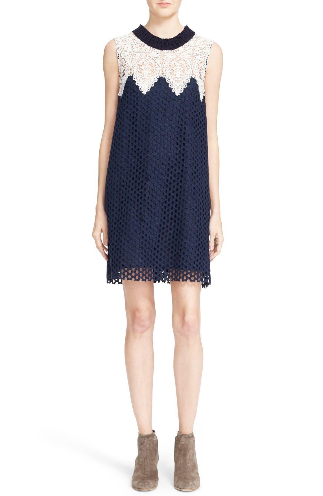 Alternate Image 1 Selected - Sea Sleeveless Cotton Lace Dress