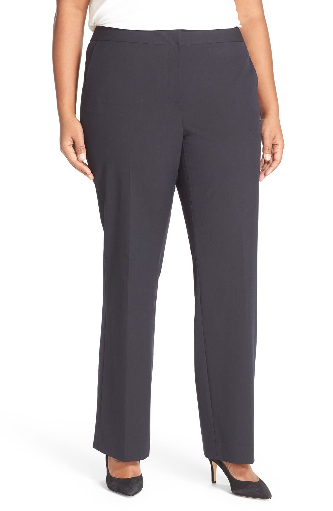 SEJOUR 'Ela' Stretch Curvy Fit Wide Leg Suit