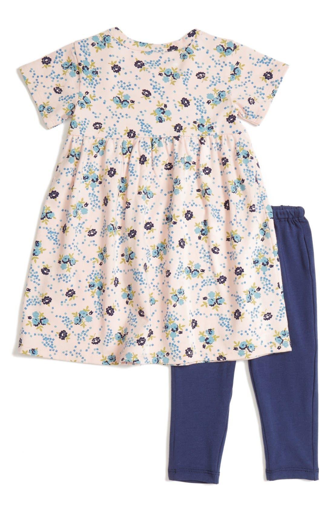 Alternate Image 2  - Tucker + Tate Floral Print Dress & Leggings Set (Baby Girls)