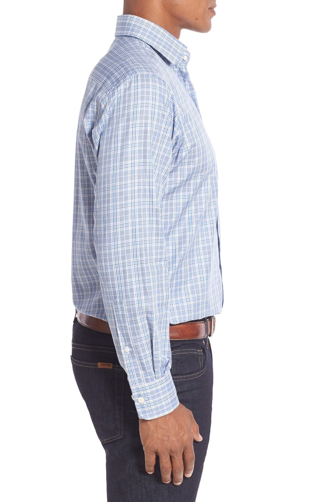 Alternate Image 3  - Peter Millar Regular Fit Glen Plaid Sport Shirt