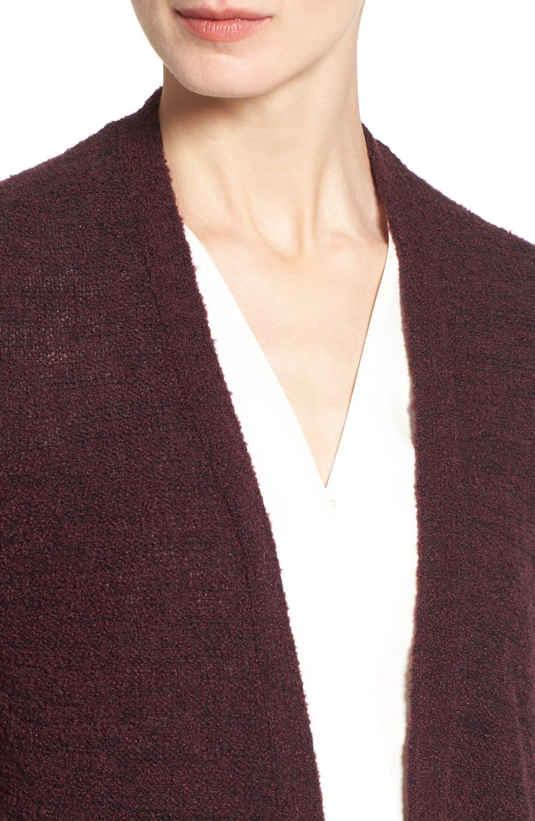Alternate Image 4  - Halogen® Long Side Slit Cardigan (Regular & Petite)