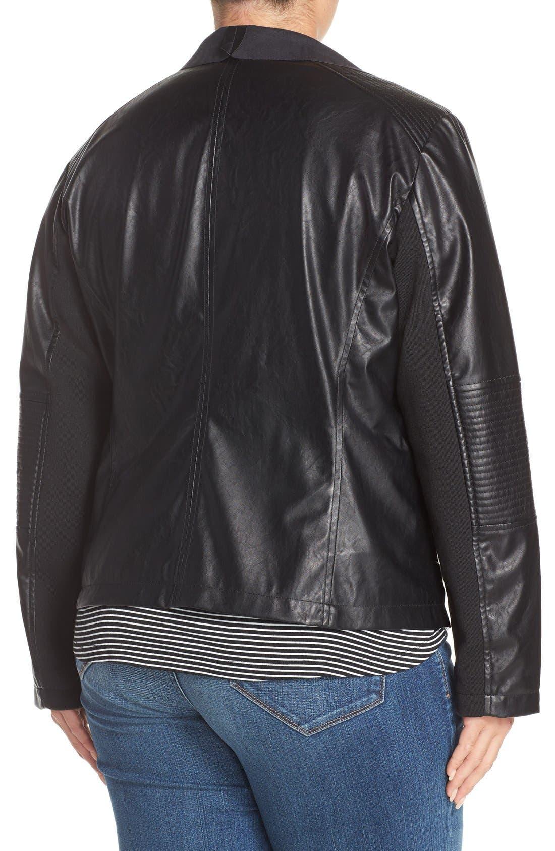Alternate Image 2  - Levi's® 'Cascade' Faux Leather Jacket (Plus Size)