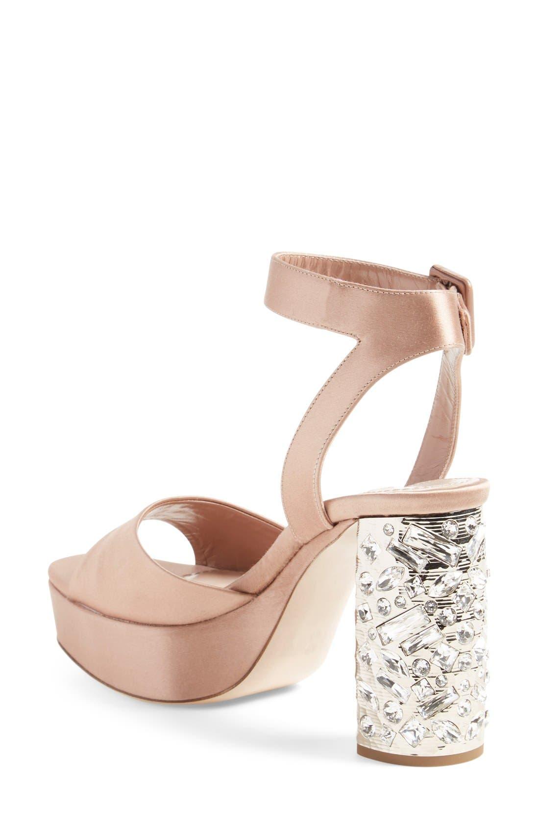 Alternate Image 2  - Miu Miu Studded Block Heel Platform Sandal (Women) (Nordstrom Exclusive)