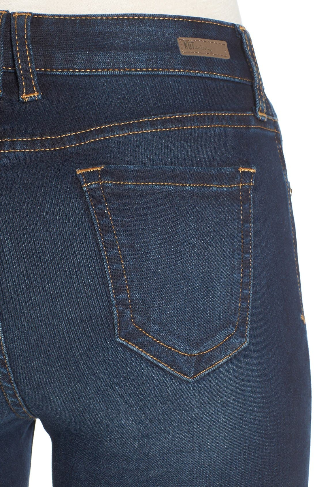 Alternate Image 4  - KUT from the Kloth 'Diana' Stretch Skinny Jeans (Brisk)