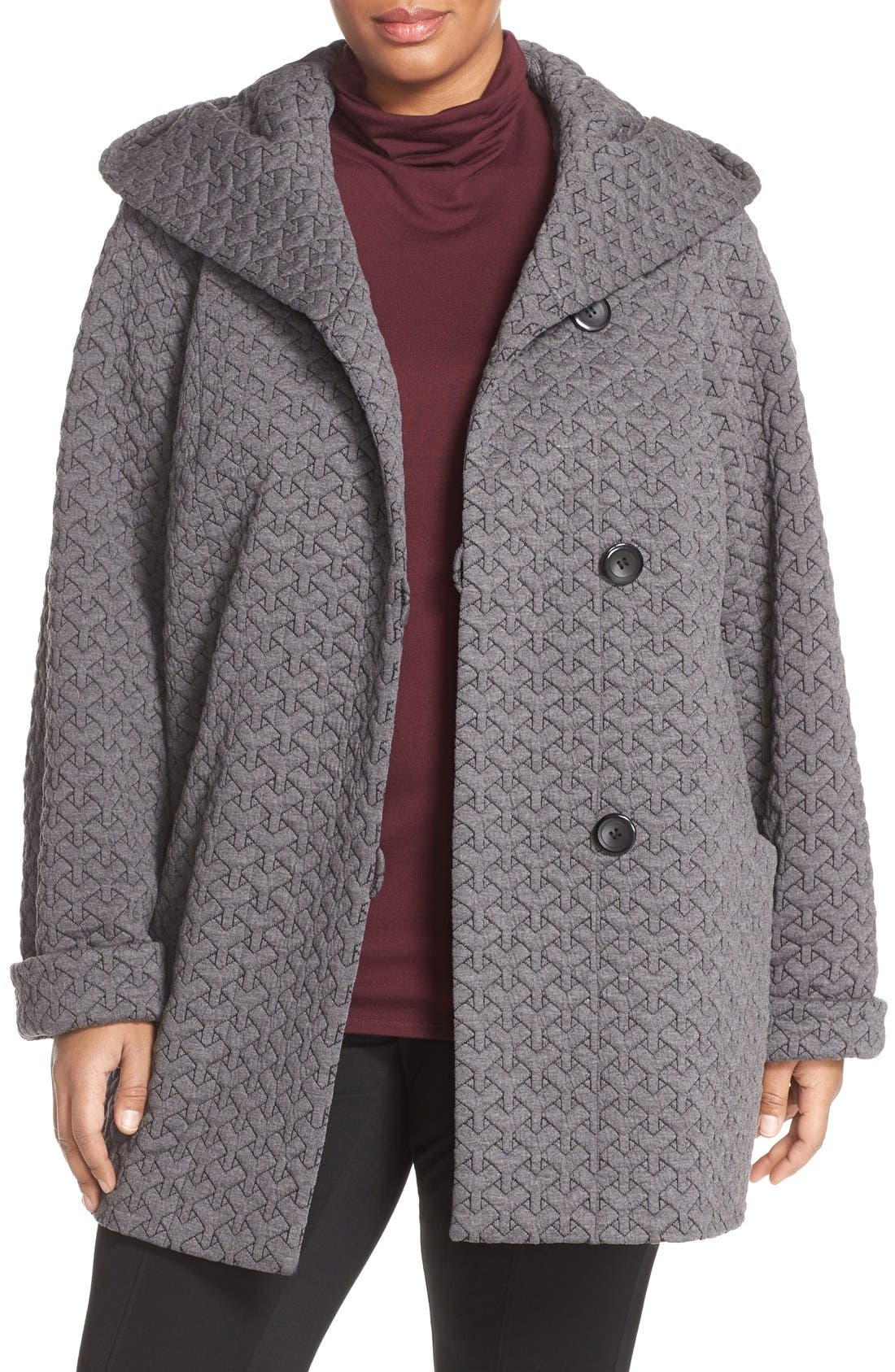 Gallery Quilted Hooded Jacket (Plus Size)