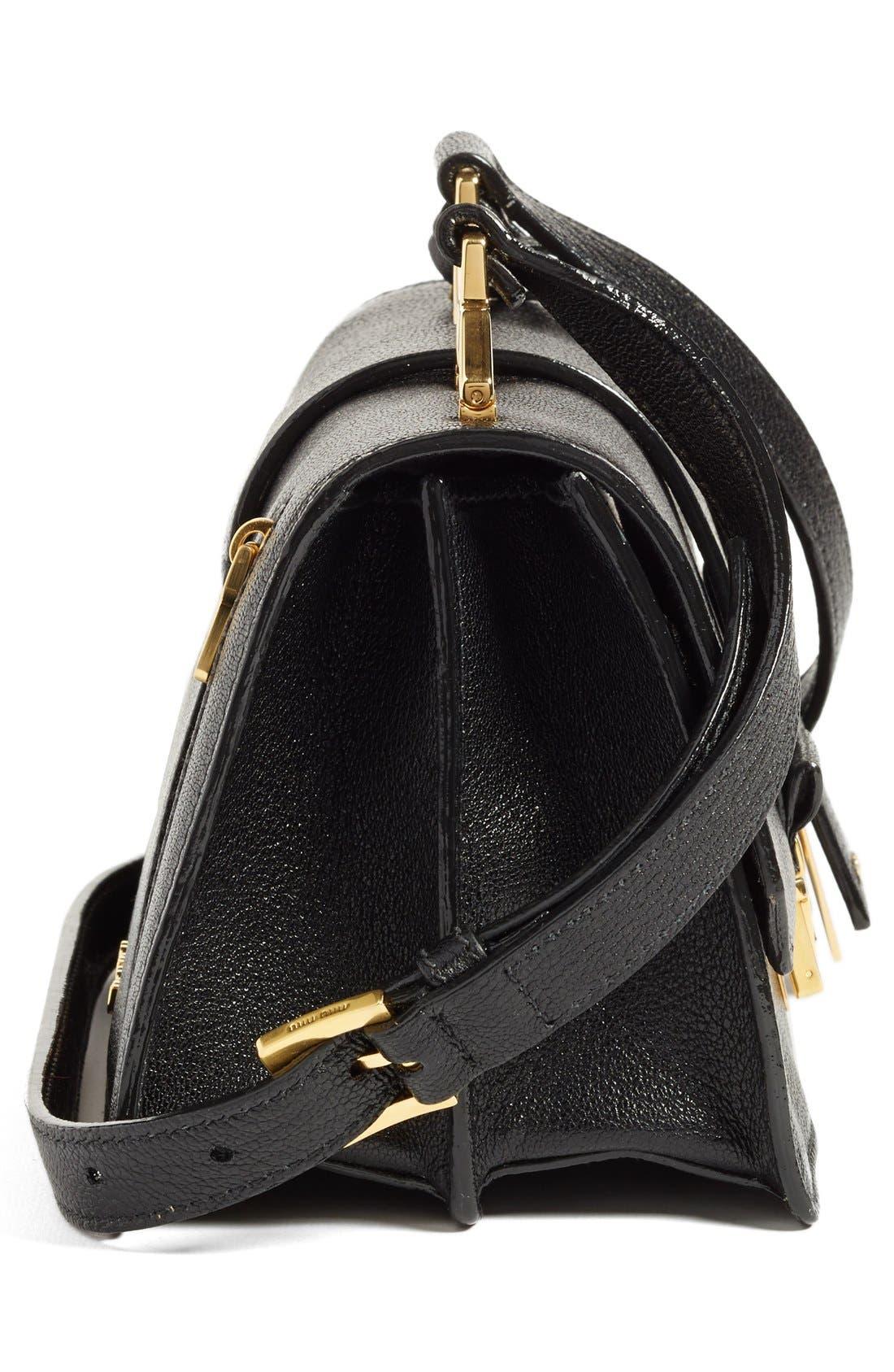 Alternate Image 5  - Miu Miu 'Small Madras' Goatskin Leather Shoulder Bag