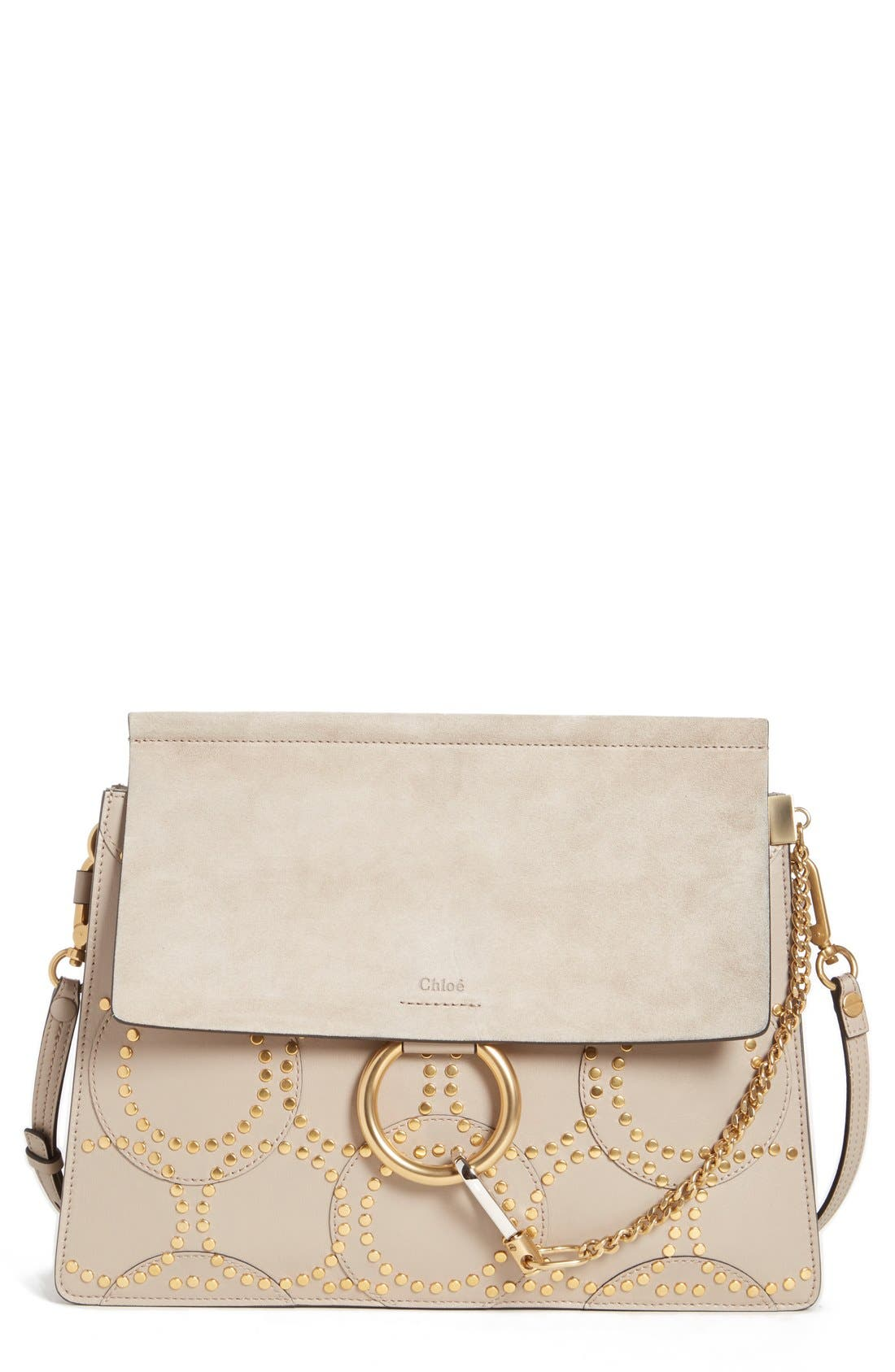CHLOÉ 'Faye' Studded Calfskin Shoulder Bag