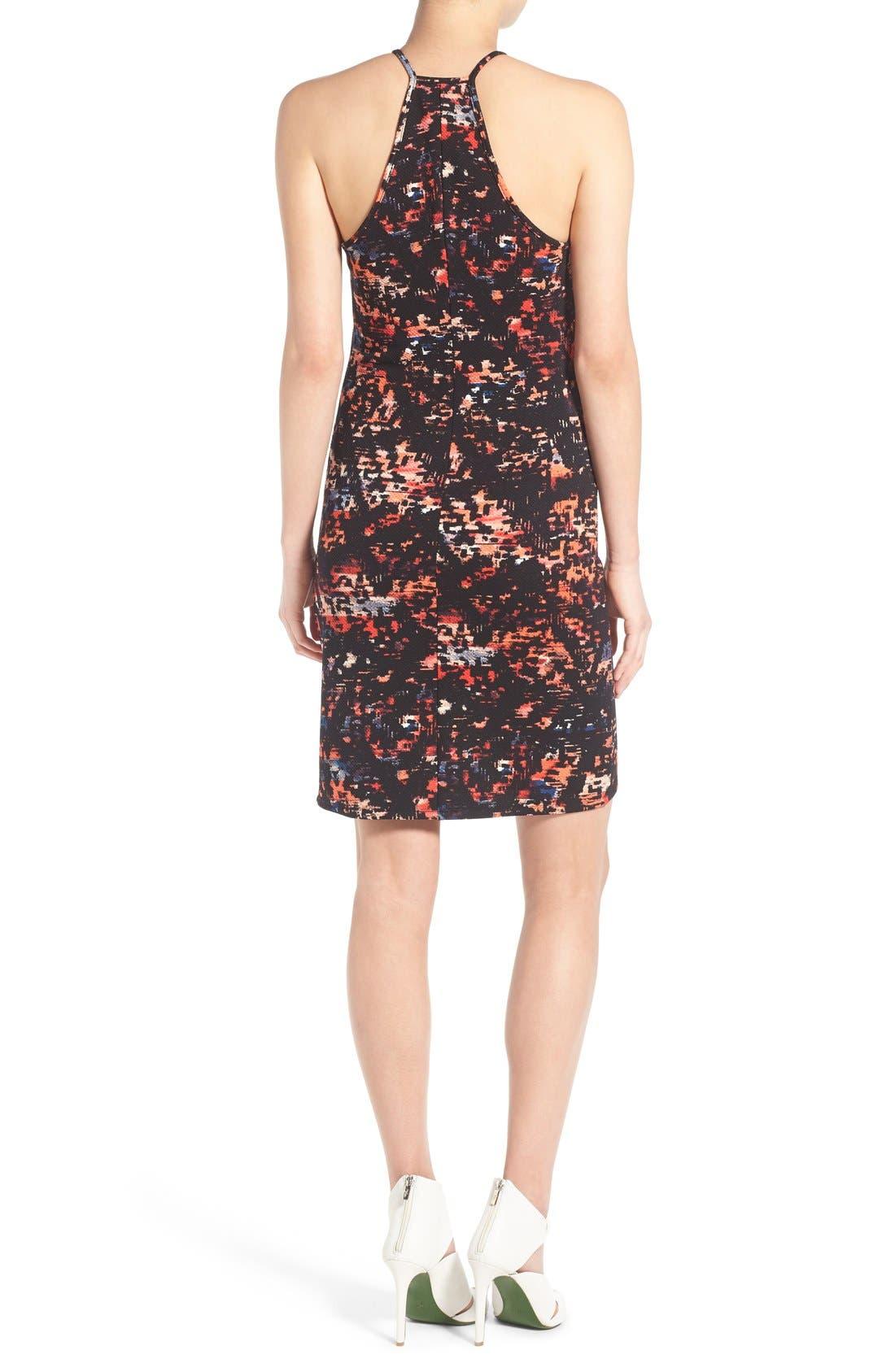 Alternate Image 2  - June & Hudson Print Piqué Body-Con Dress