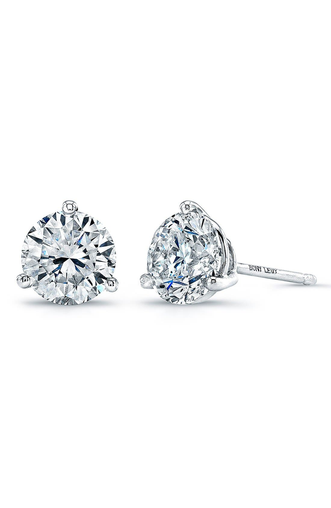 Main Image - Bony Levy Diamond Stud Earrings (Nordstrom Exclusive)
