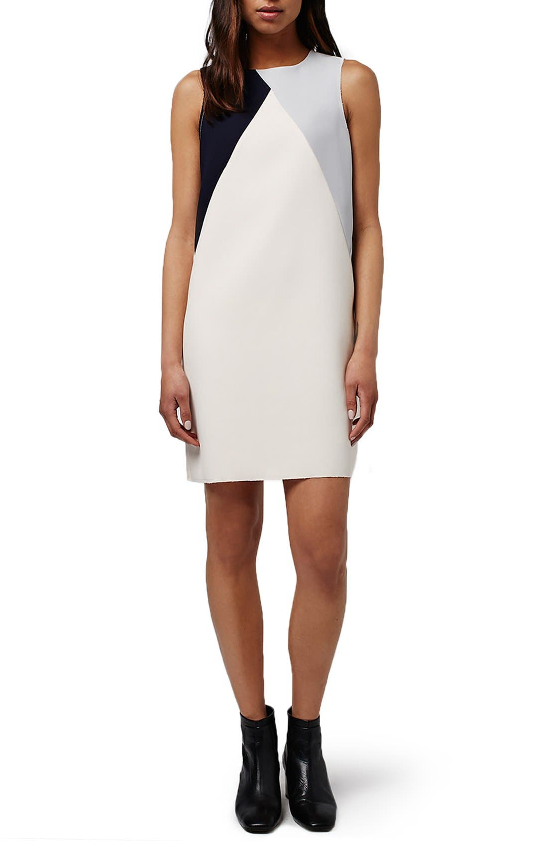 Main Image - Topshop Colorblock Shift Dress