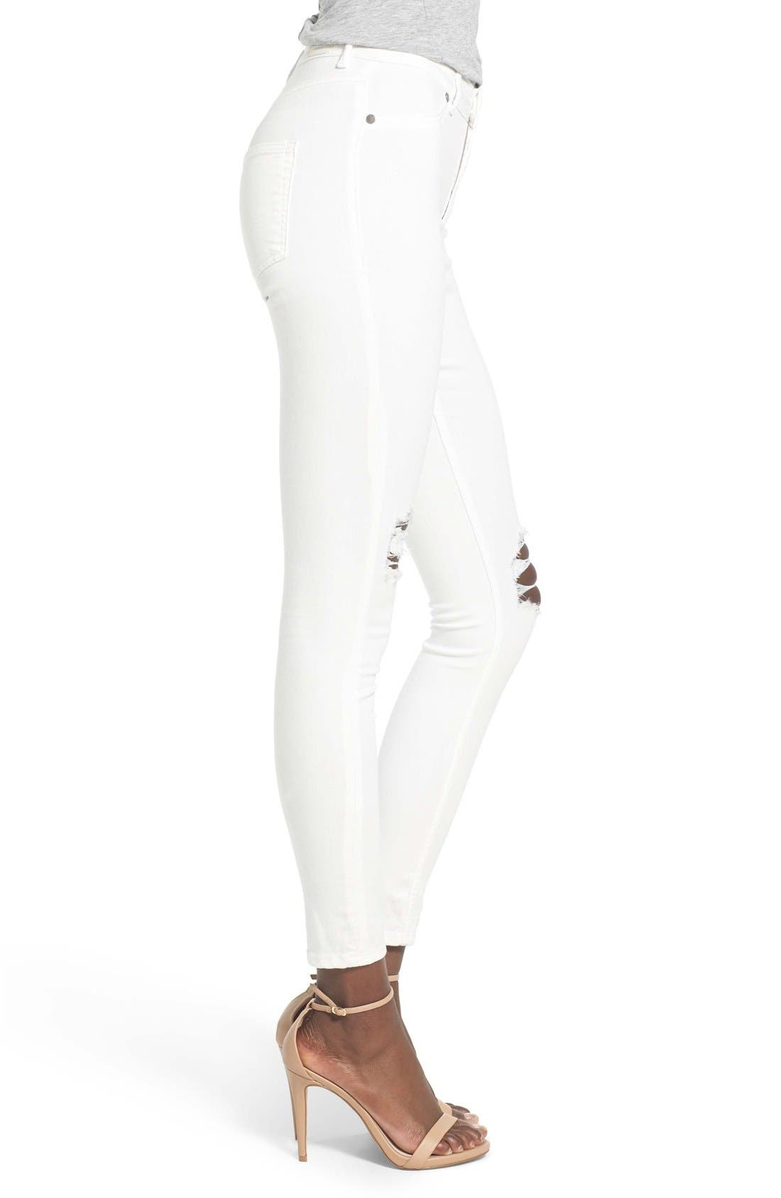 Alternate Image 3  - Cheap Monday High Rise Distressed Skinny Jeans