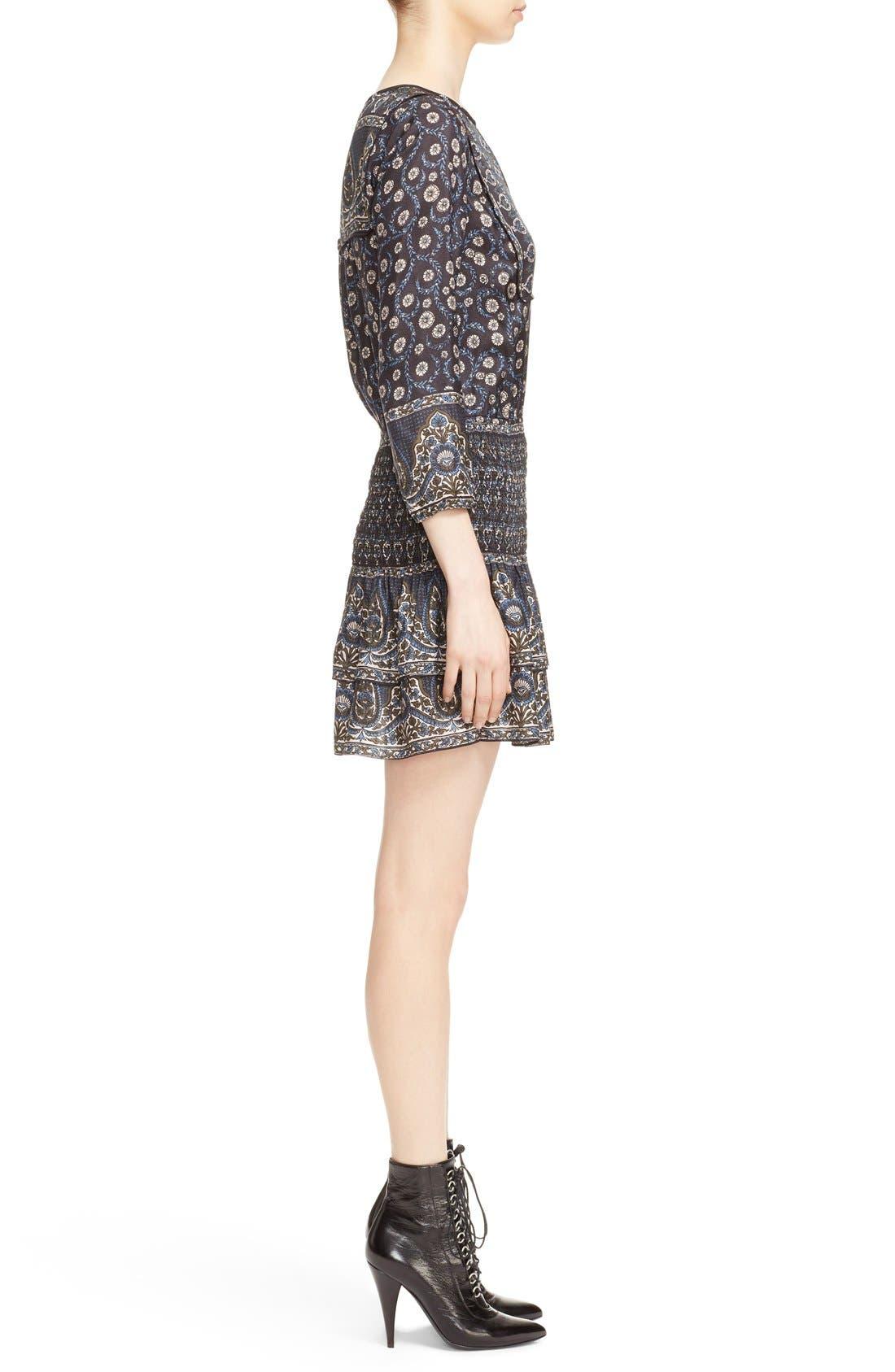 Alternate Image 3  - Veronica Beard 'Makai' Floral Print Silk Ruffle Hem Dress