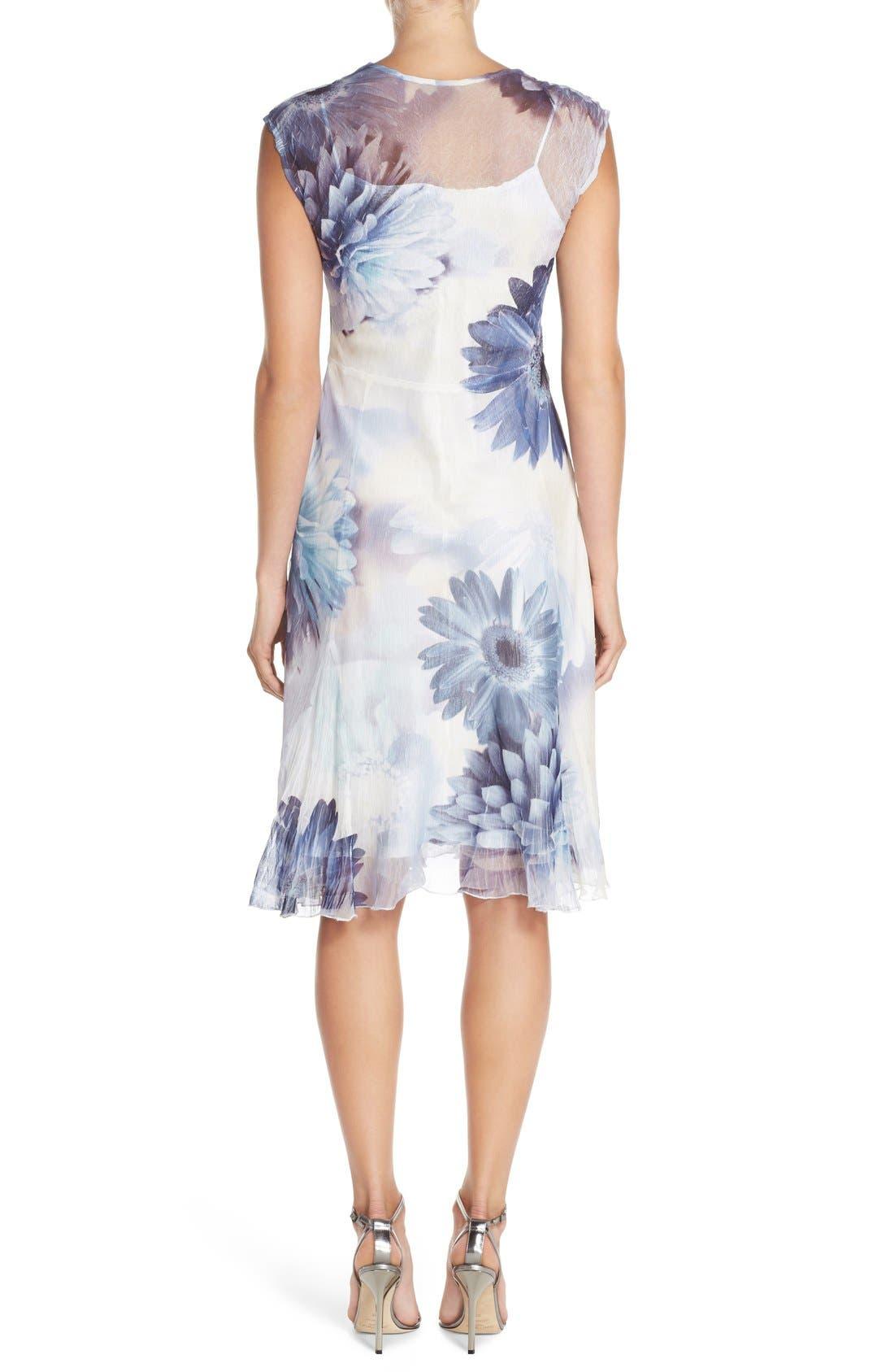 Alternate Image 2  - Komarov Floral Print Chiffon A-Line Dress (Regular & Petite)