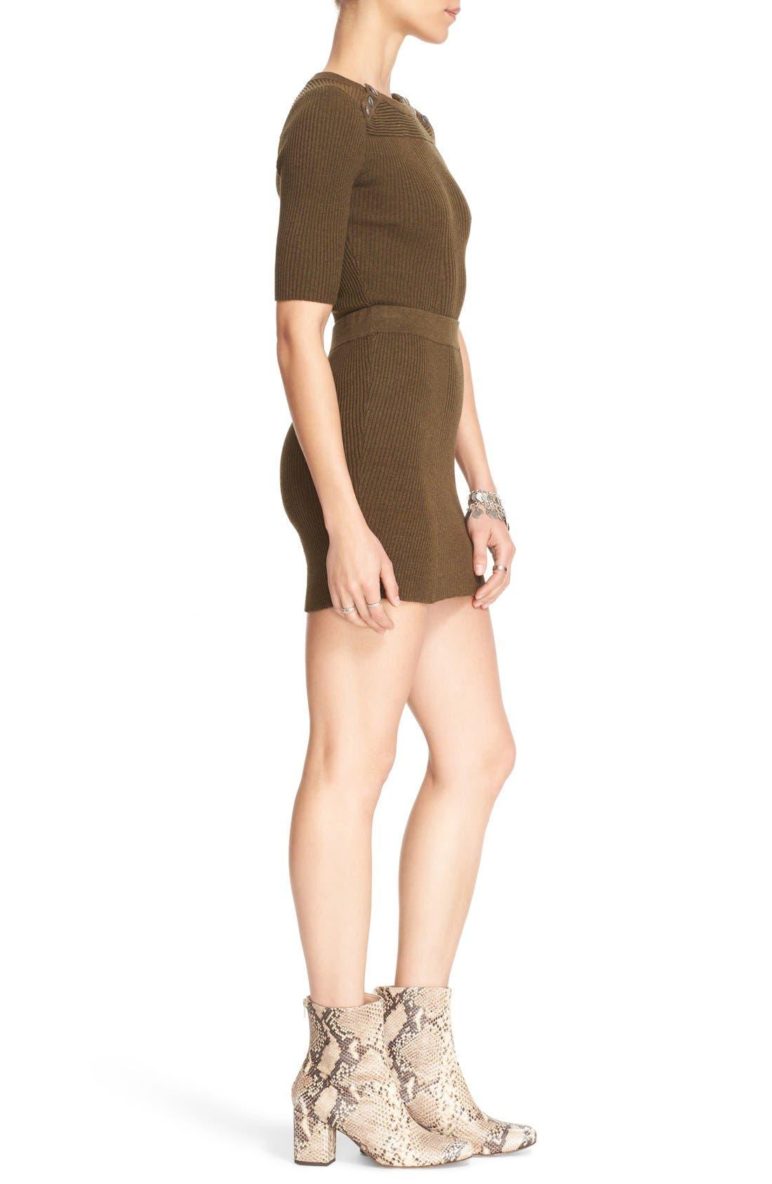 Alternate Image 3  - Free People 'Little Minx' Cotton Sweater & Miniskirt
