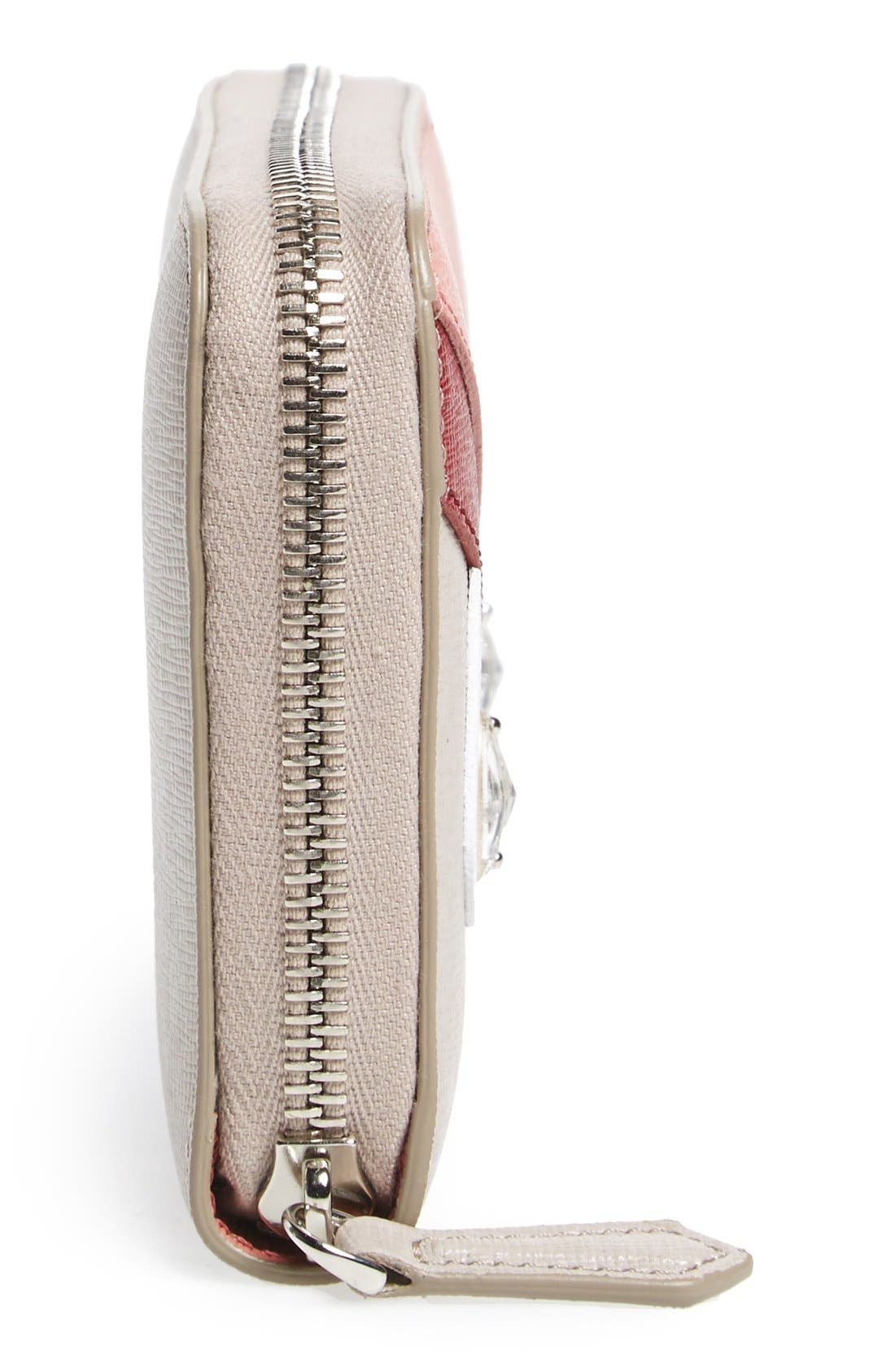 Alternate Image 5  - Fendi 'Monster' Leather Zip Around Wallet
