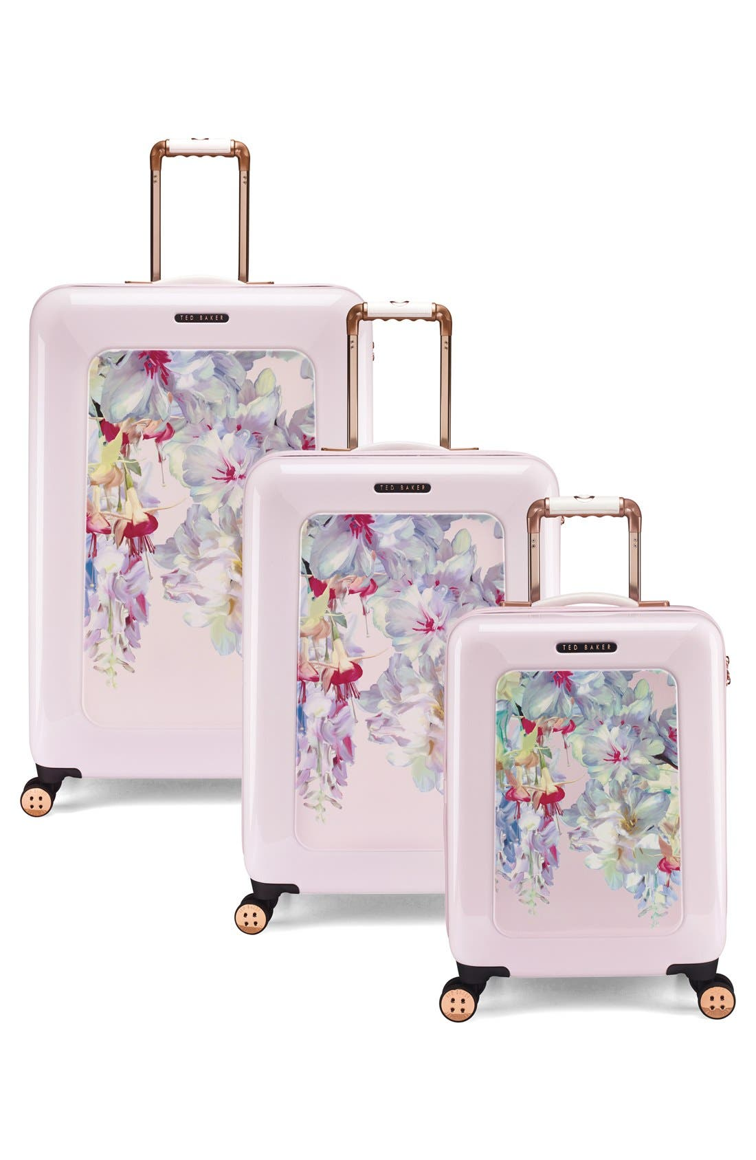 Alternate Image 7  - Ted Baker London Small Hanging Gardens Four Wheel Suitcase (22 Inch)