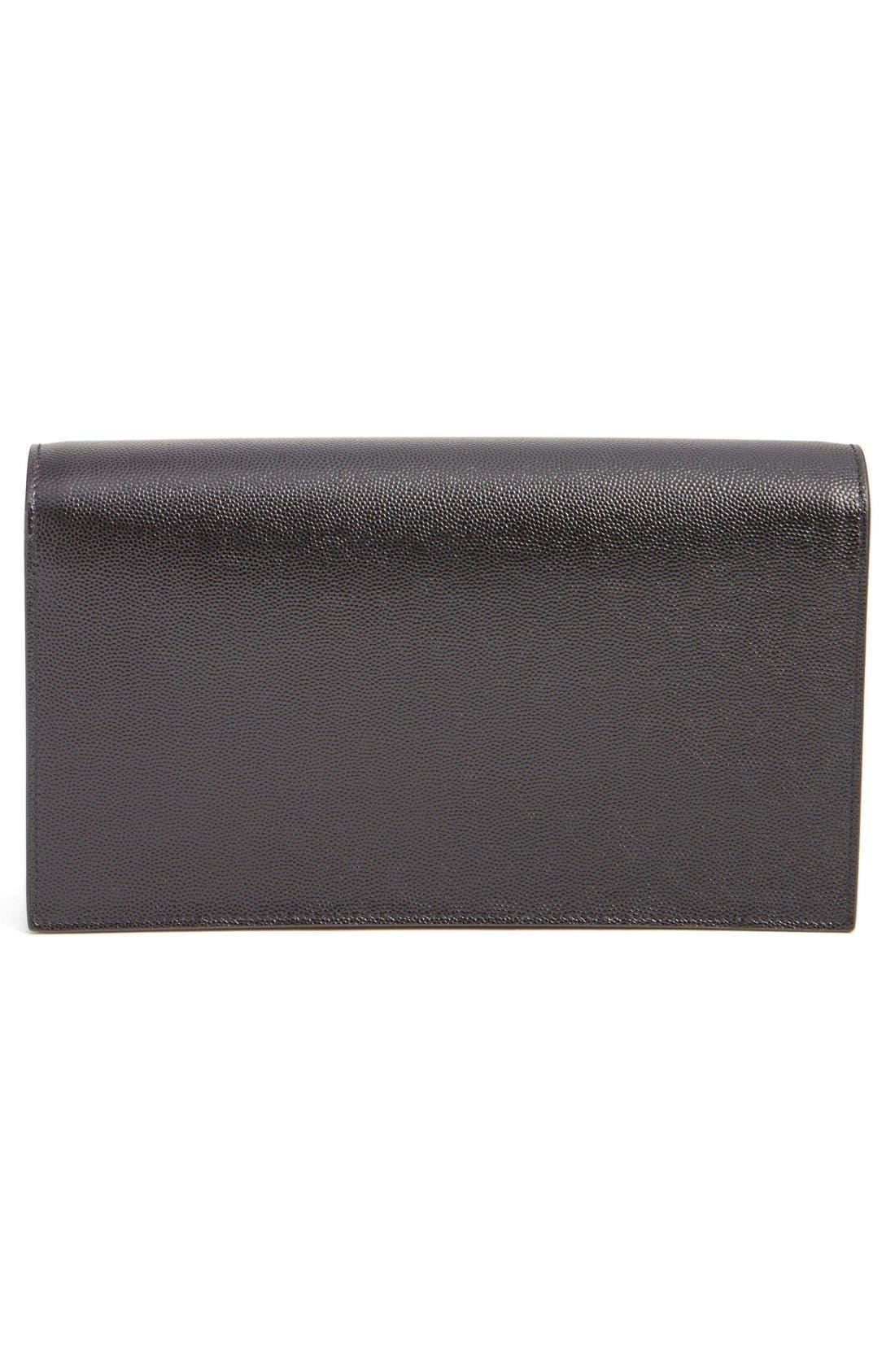 Alternate Image 2  - Saint Laurent 'Kate' Pebbled Calfskin Leather Clutch