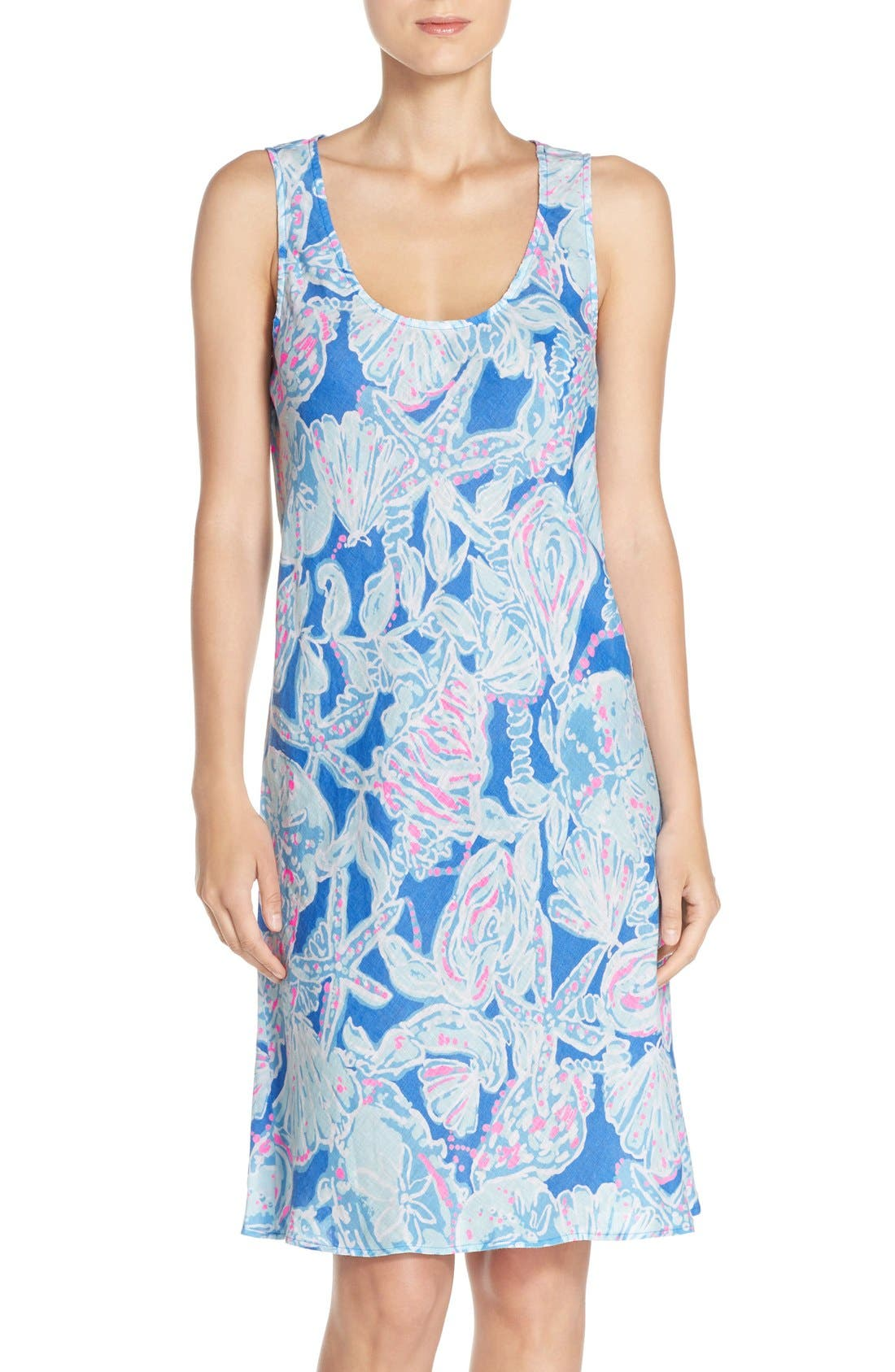 Alternate Image 1 Selected - Lilly Pulitzer® 'Patterson' Print Linen Sheath Dress
