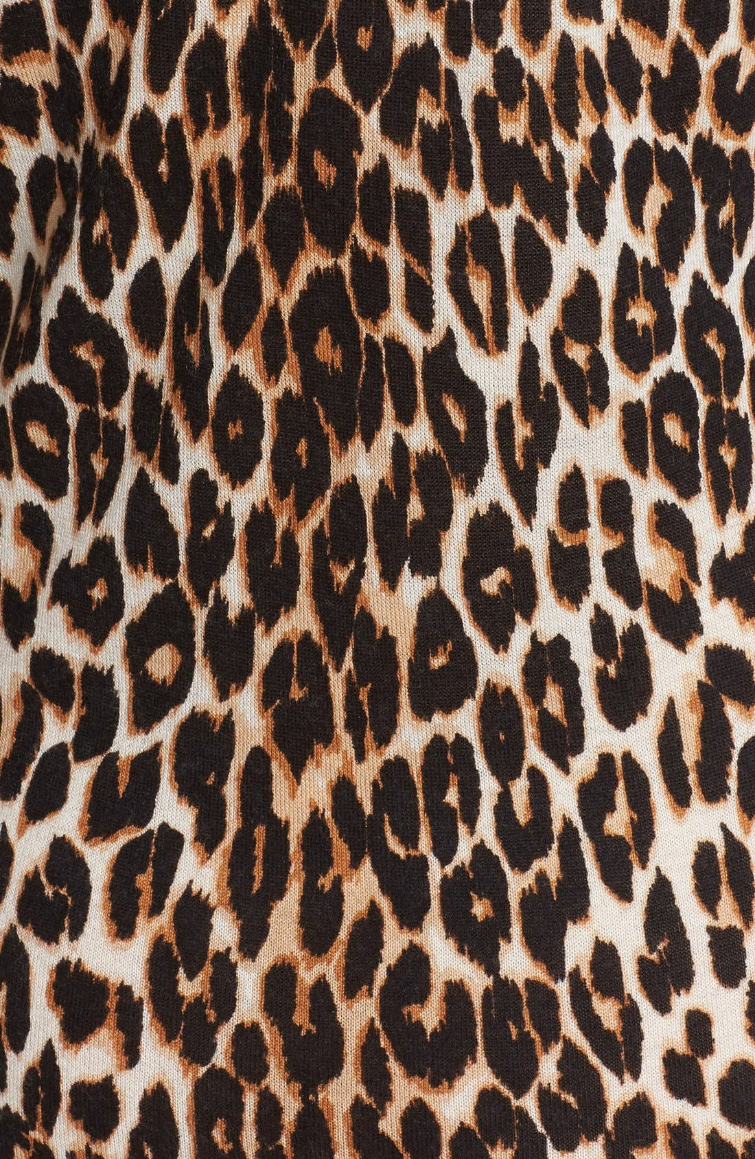 Alternate Image 5  - Equipment 'Marta' Leopard Print Silk & Cashmere Knit Dress
