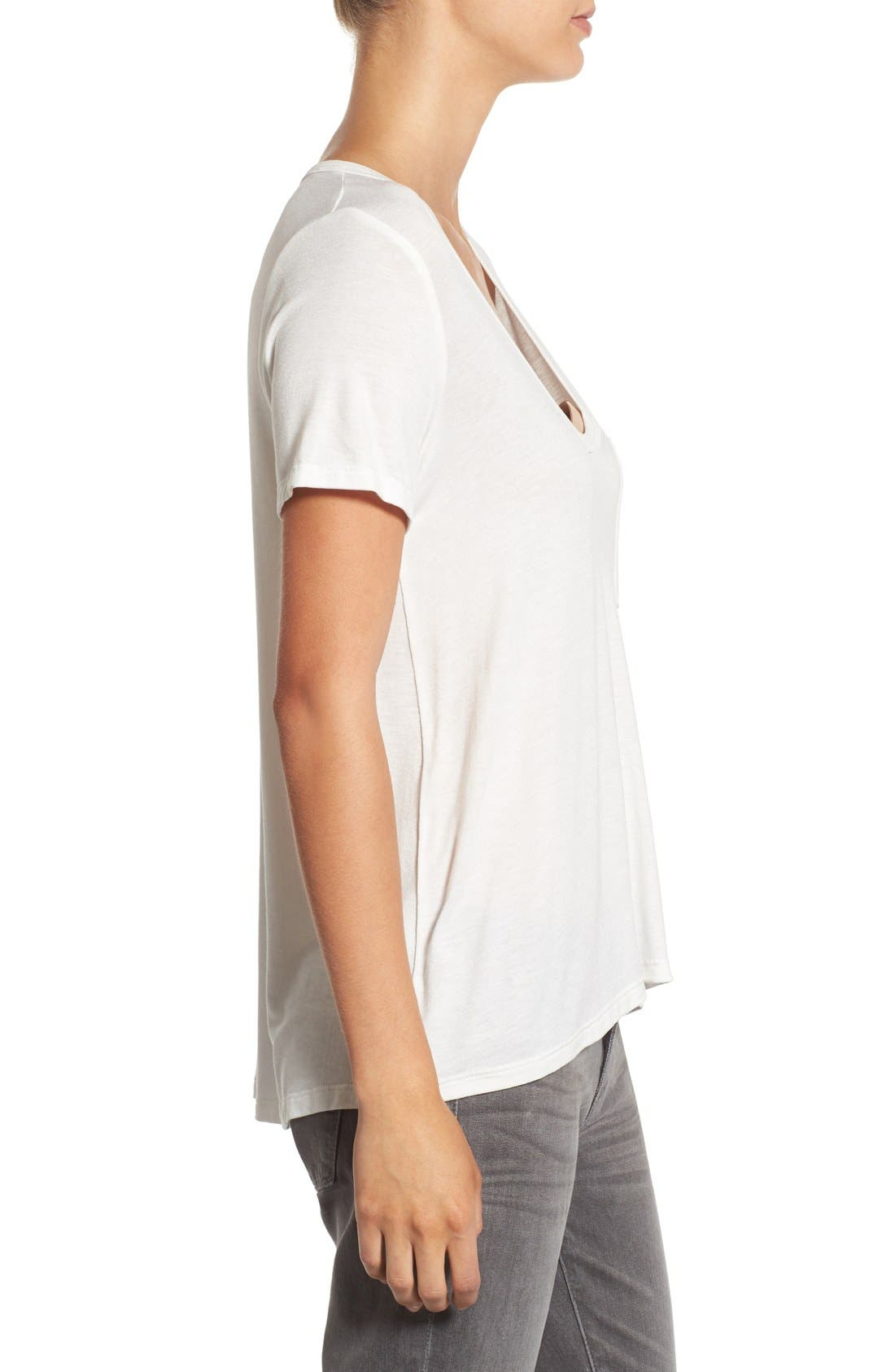 Alternate Image 3  - Lush Deep-V Neck Tee