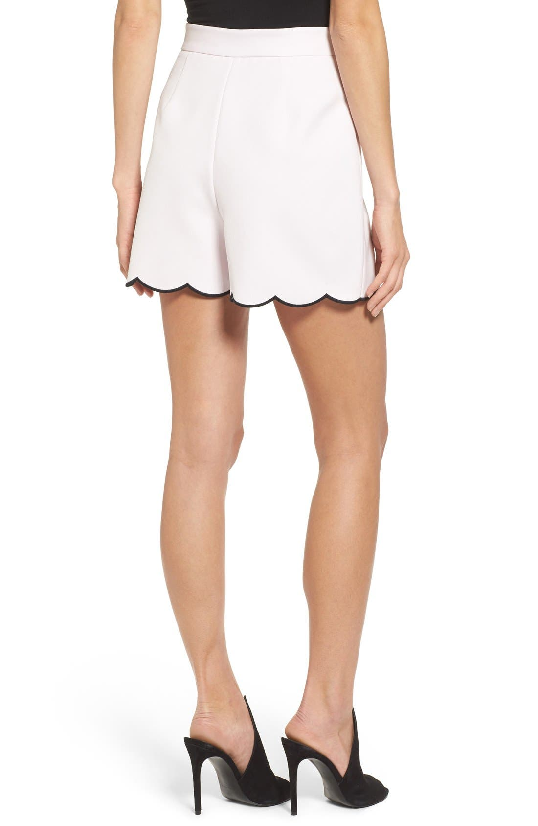 Alternate Image 3  - KENDALL + KYLIE Scallop Hem High Waist Shorts