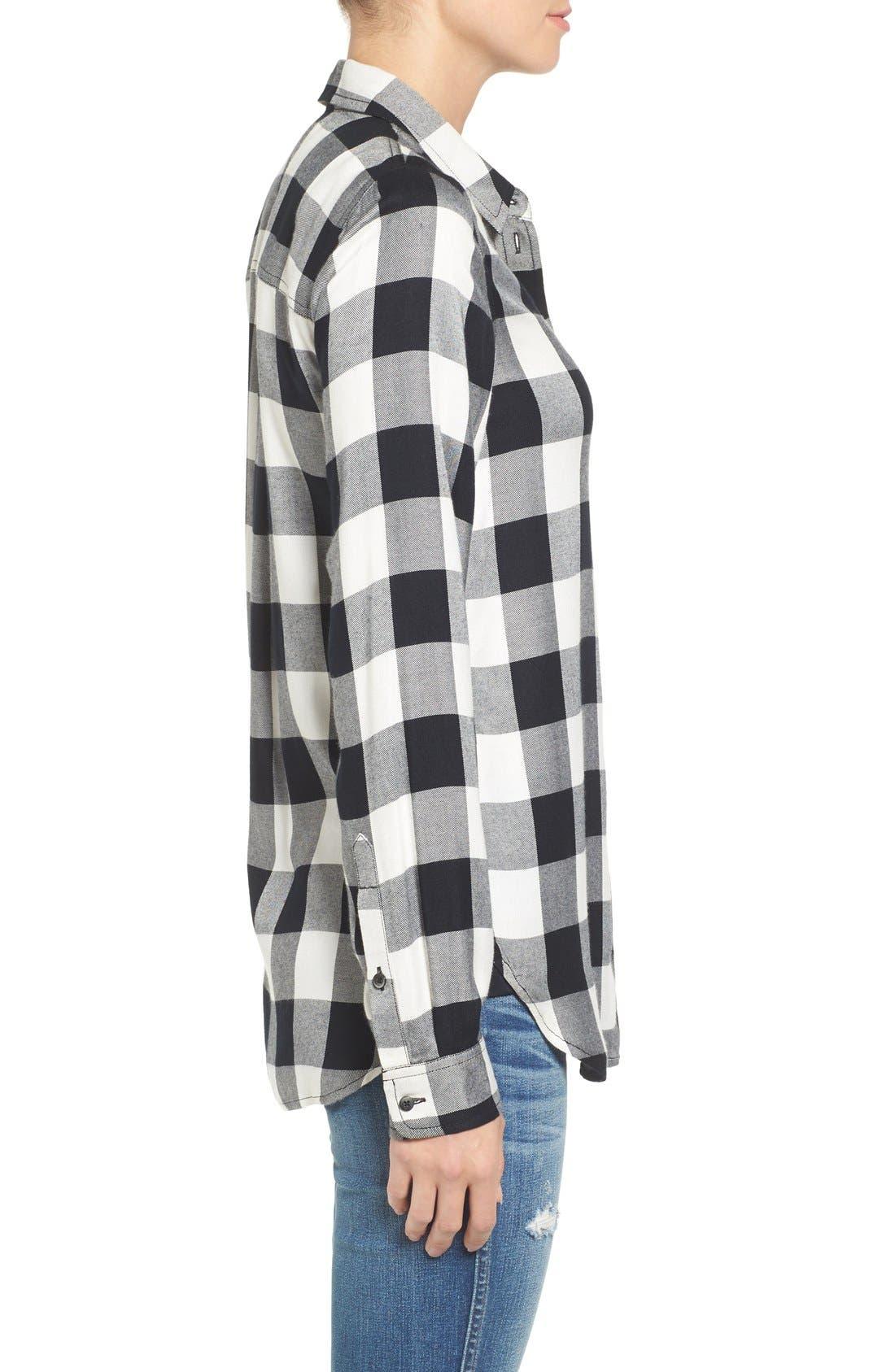 Alternate Image 3  - Madewell 'Ex Boyfriend' Buffalo Check Slim Shirt