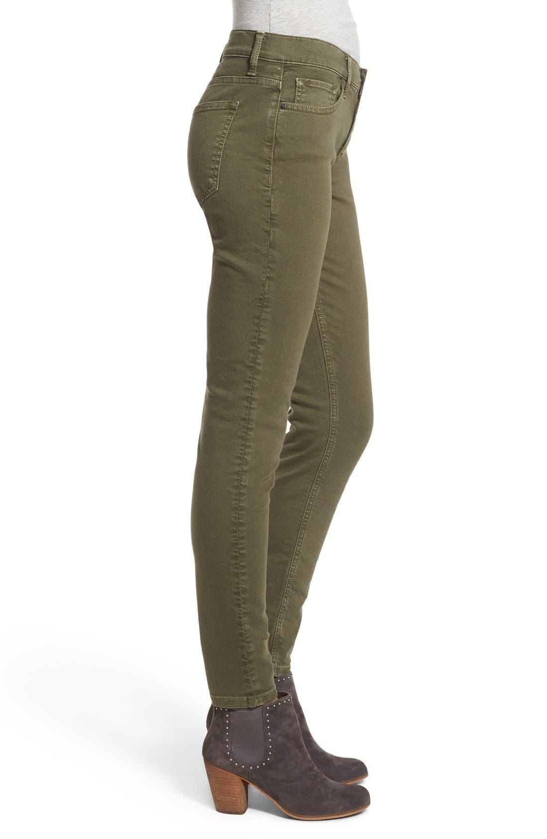 Alternate Image 3  - SP Black Stretch Cotton Skinny Jeans