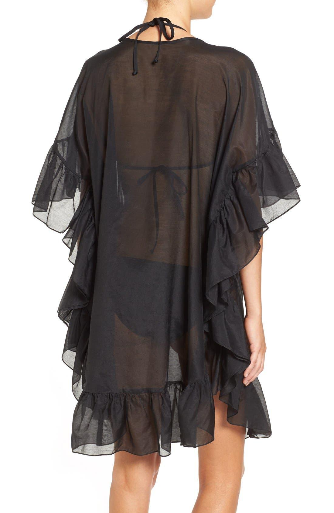 Alternate Image 4  - Soler 'Yasmine' Frill Tie Cover-Up Caftan