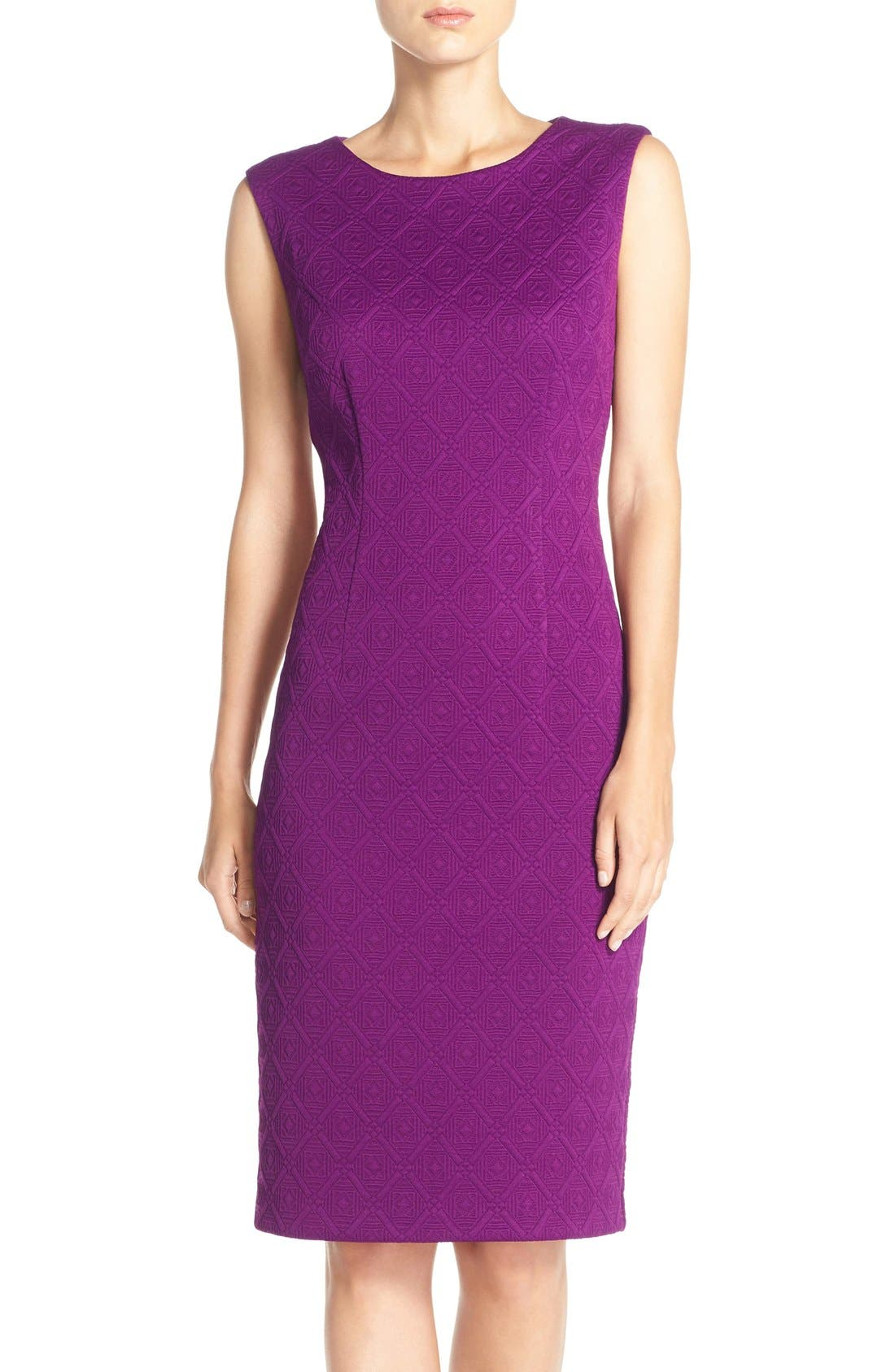 Main Image - Betsey Johnson Textured Knit Sheath Dress