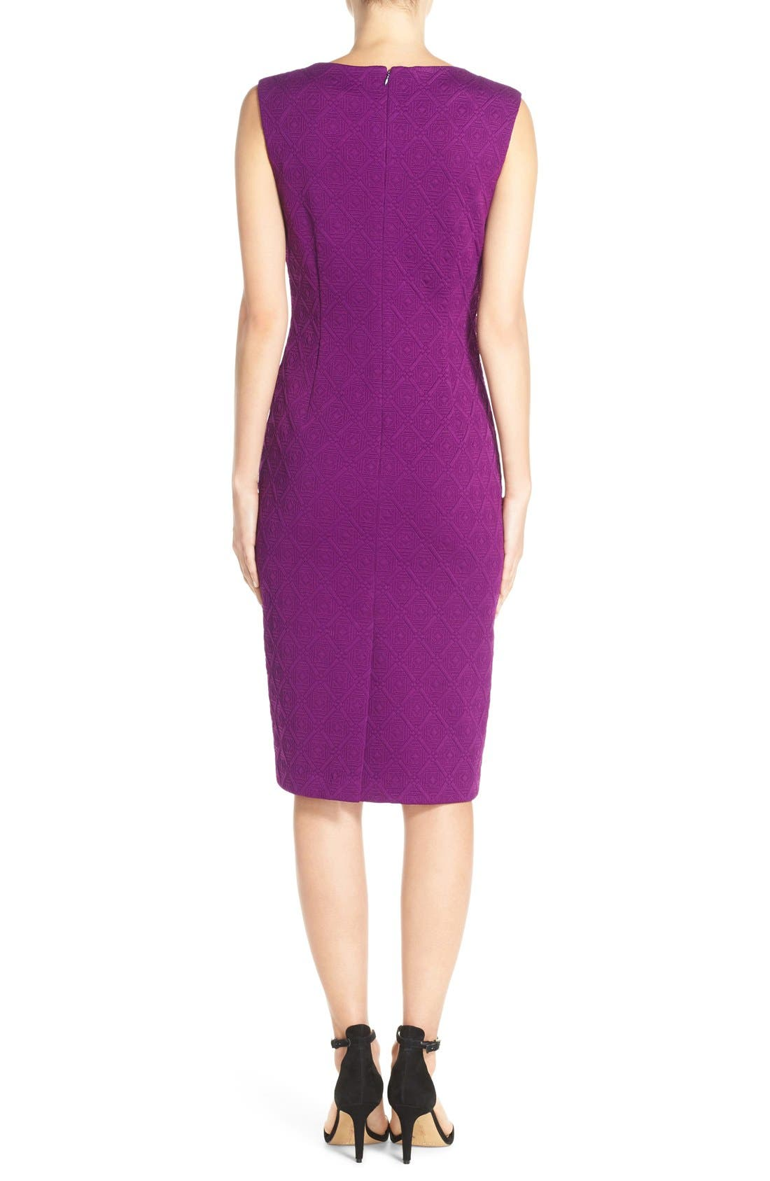 Alternate Image 2  - Betsey Johnson Textured Knit Sheath Dress