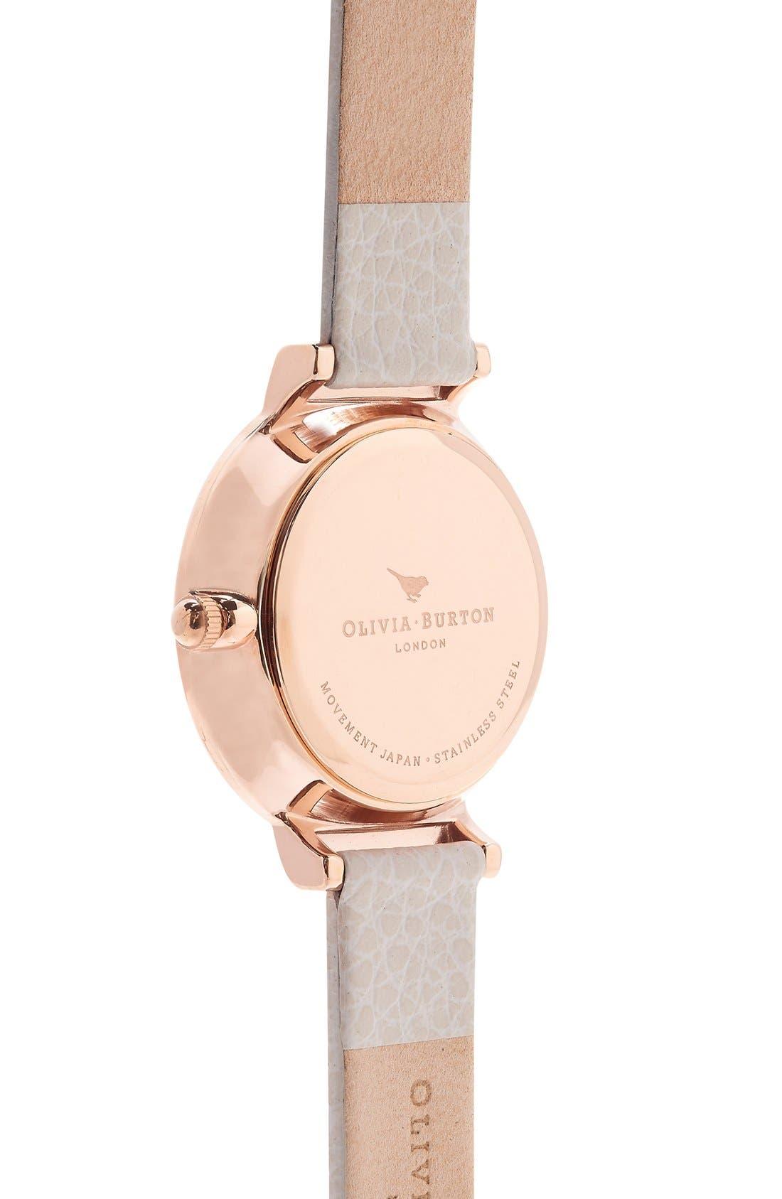 Alternate Image 3  - Olivia Burton 'The Hackney' Leather Strap Watch, 29mm