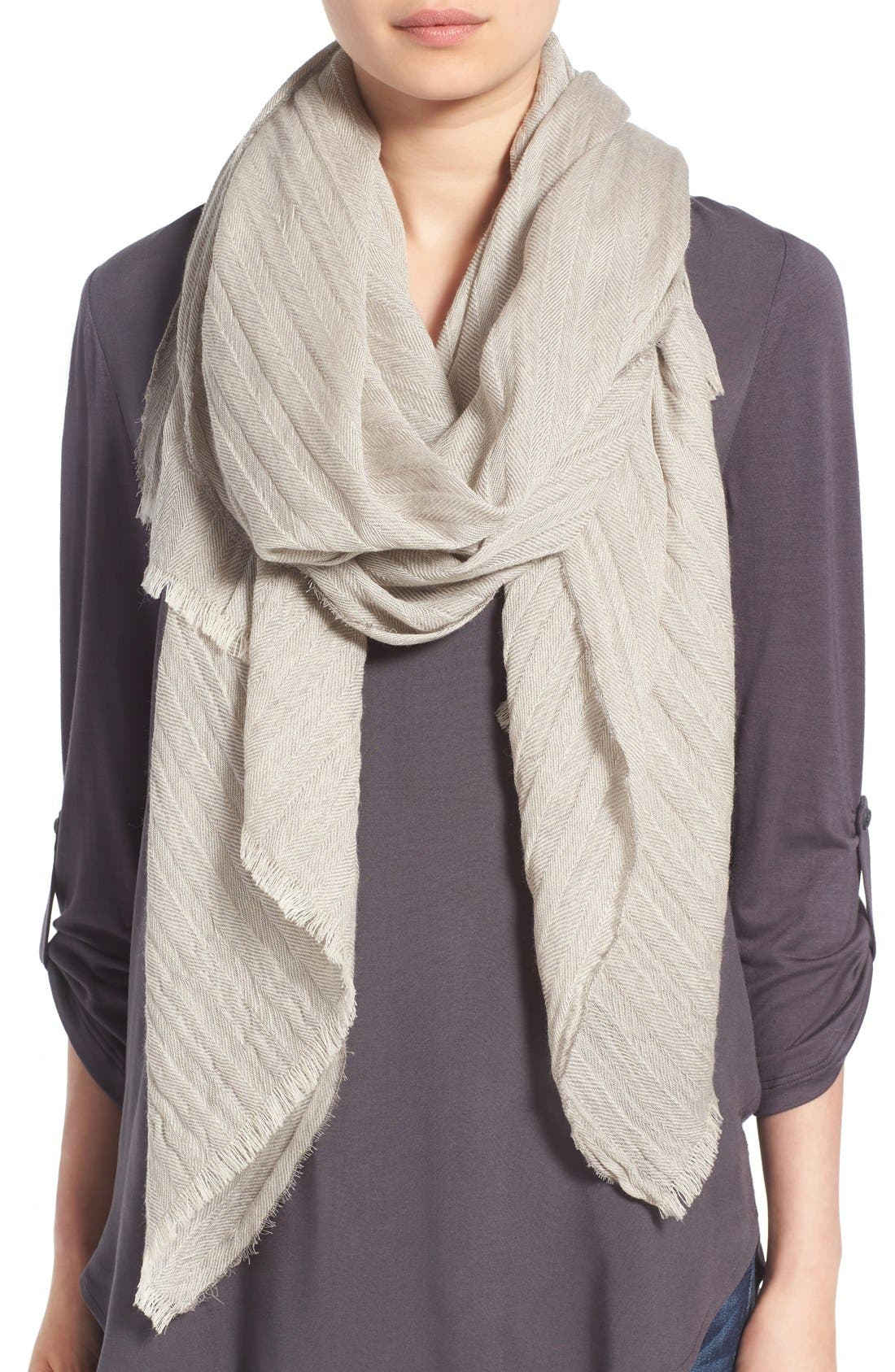 Alternate Image 1 Selected - Caslon® Textured Wool Wrap Scarf