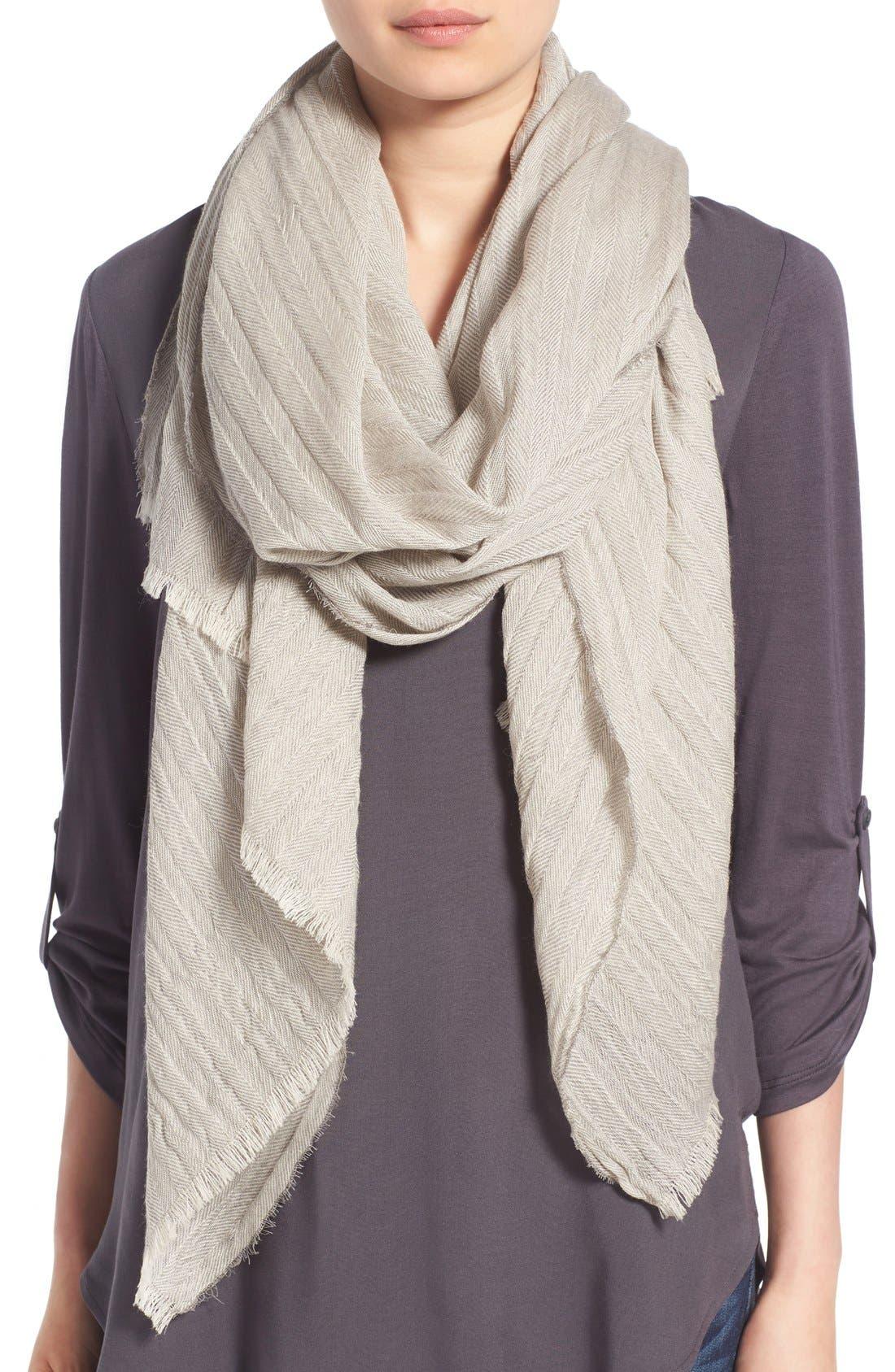 Main Image - Caslon® Textured Wool Wrap Scarf