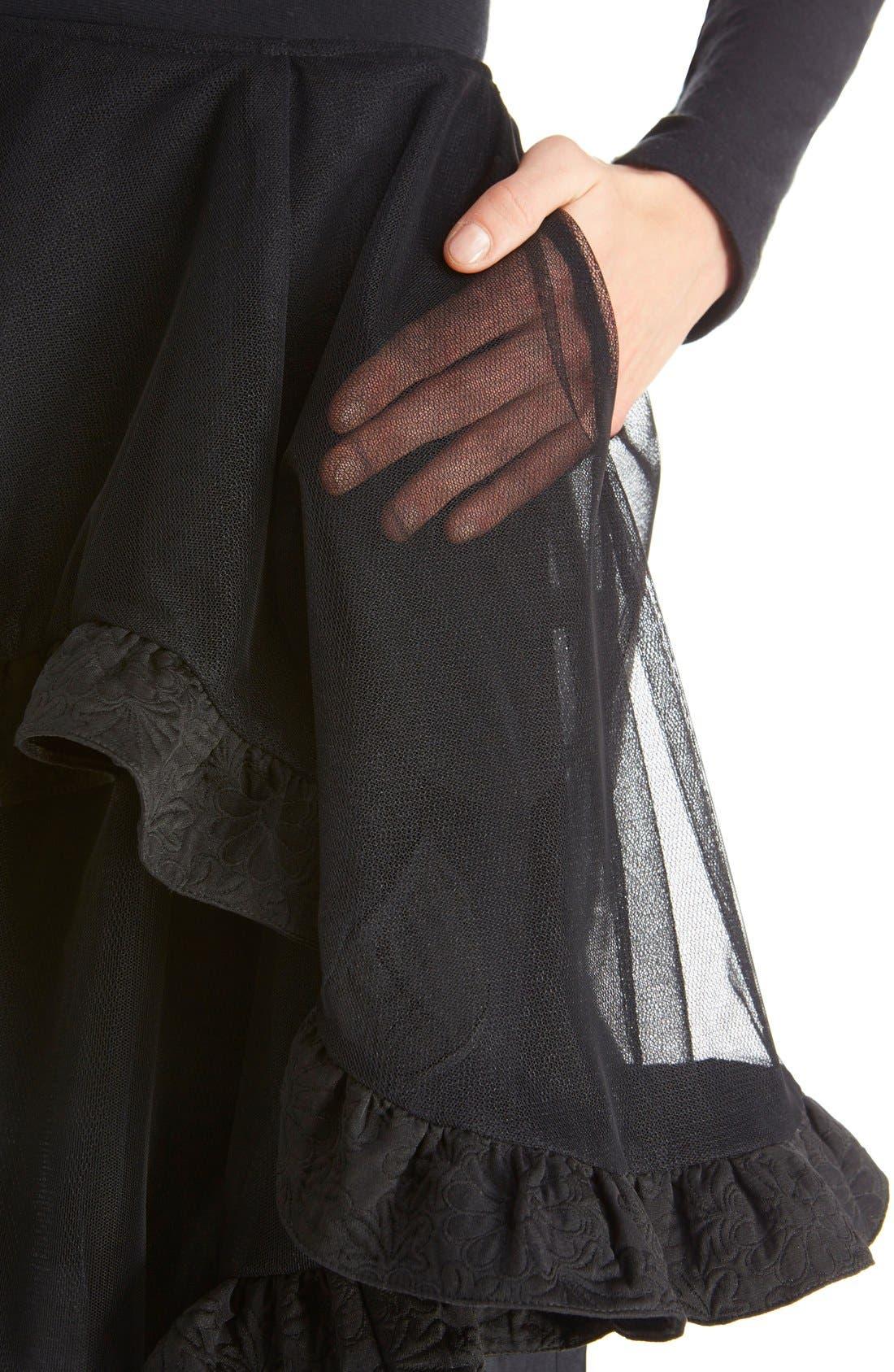 Alternate Image 5  - Simone Rocha Brocade Trim Tulle Skirt