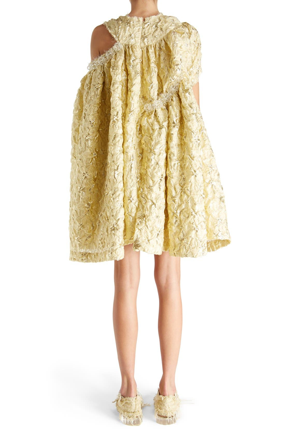 Alternate Image 2  - Simone Rocha 'Lava' Embellished Asymmetrical Trapeze Dress