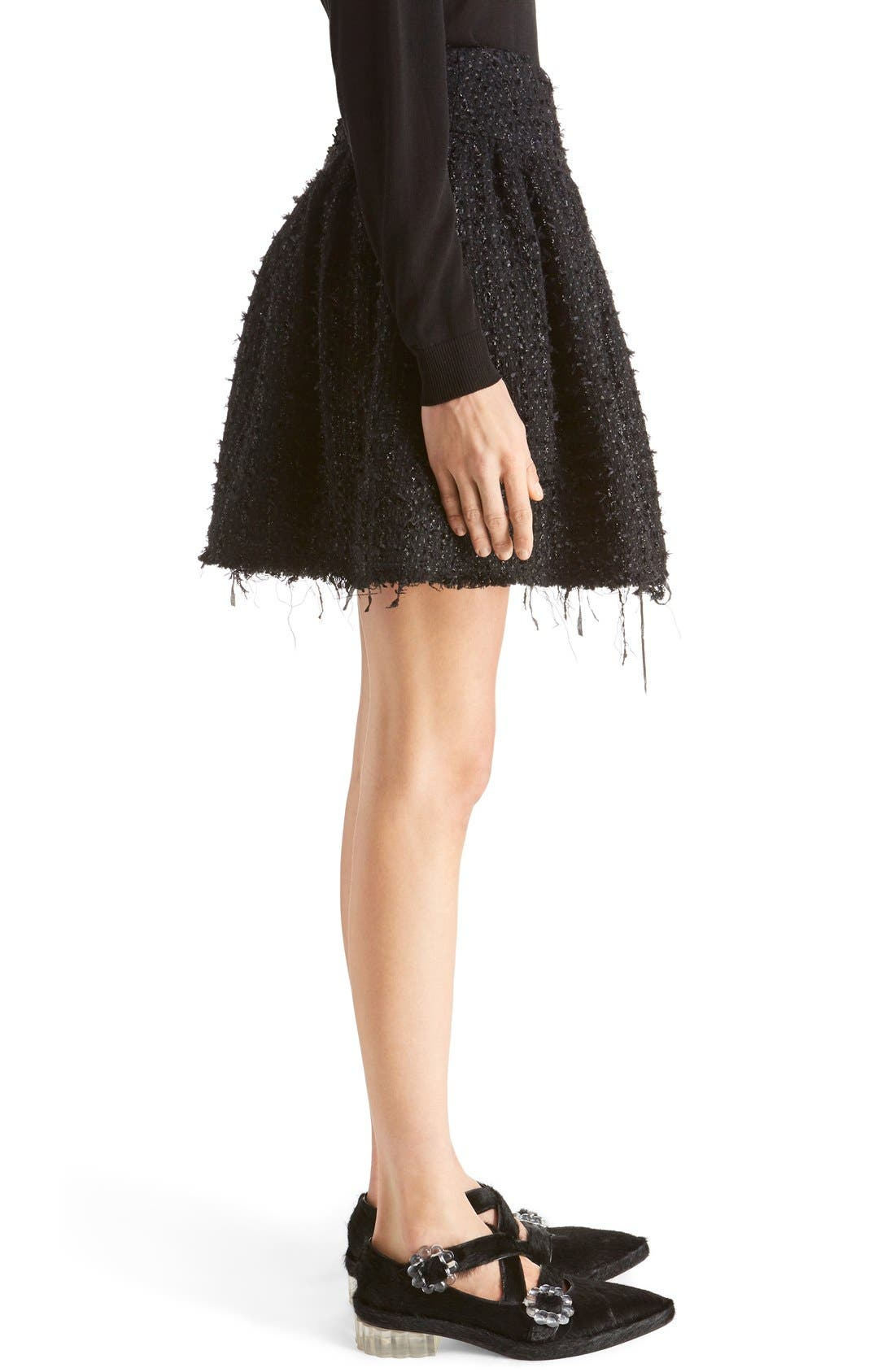 Alternate Image 4  - Simone Rocha Gathered Tweed Miniskirt