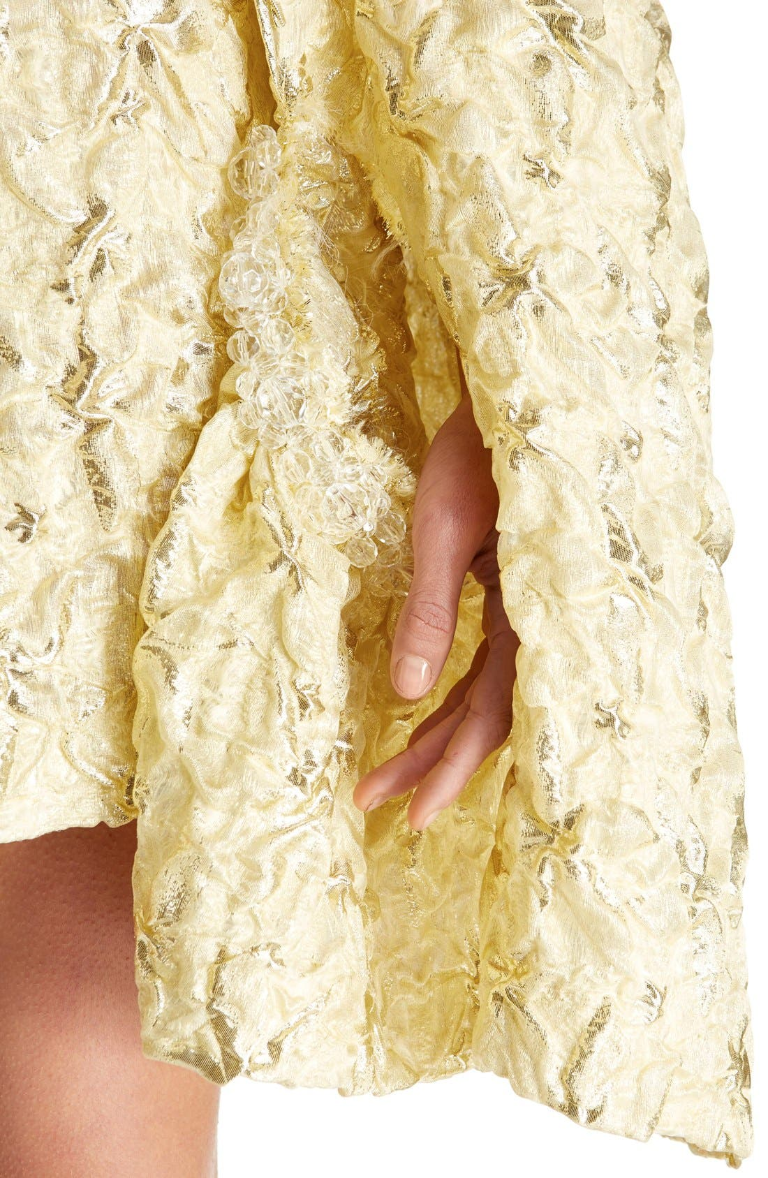 Alternate Image 7  - Simone Rocha 'Lava' Embellished Asymmetrical Trapeze Dress