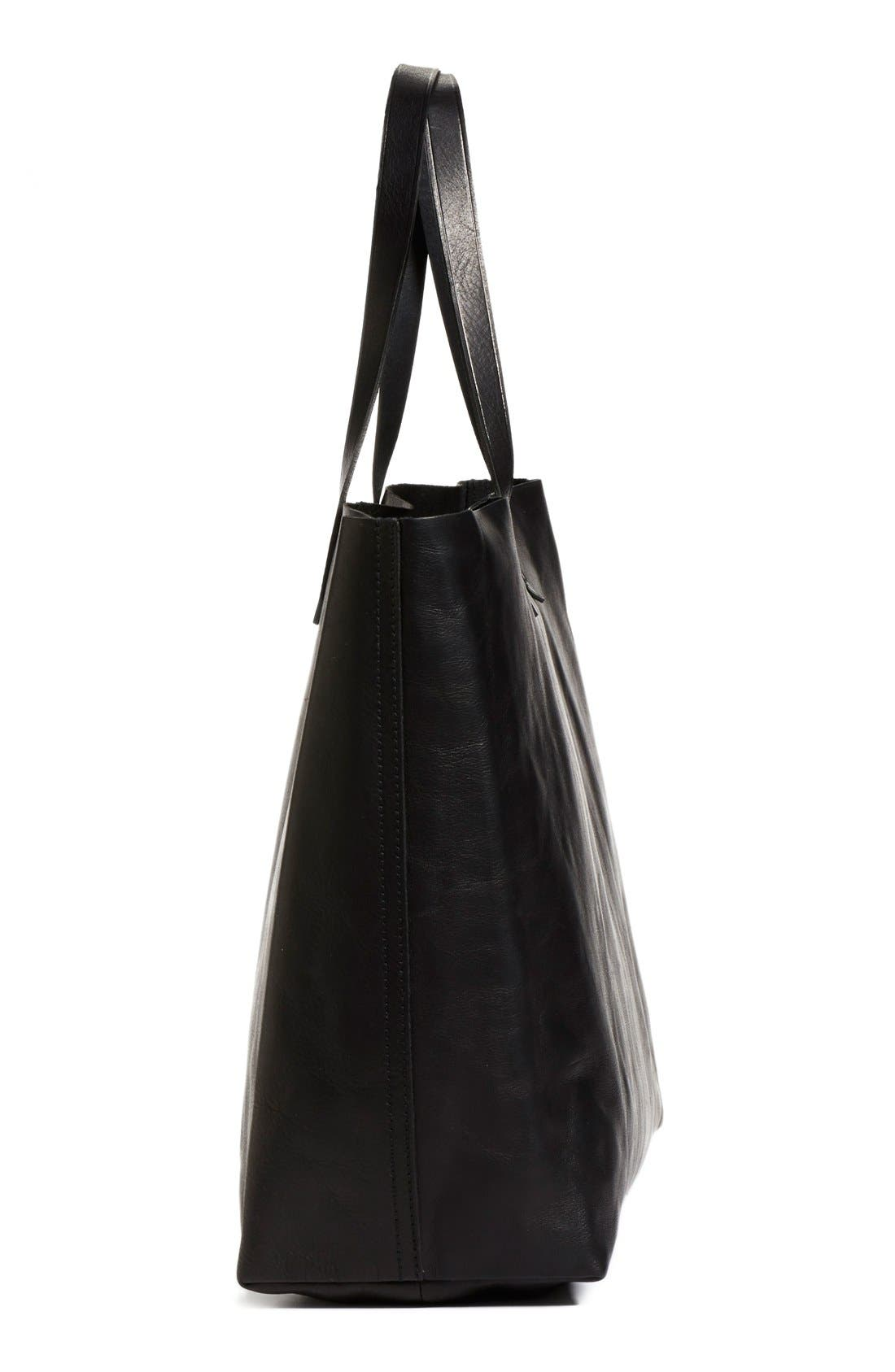 Alternate Image 4  - Madewell 'The East-West Transport' Leather Tote