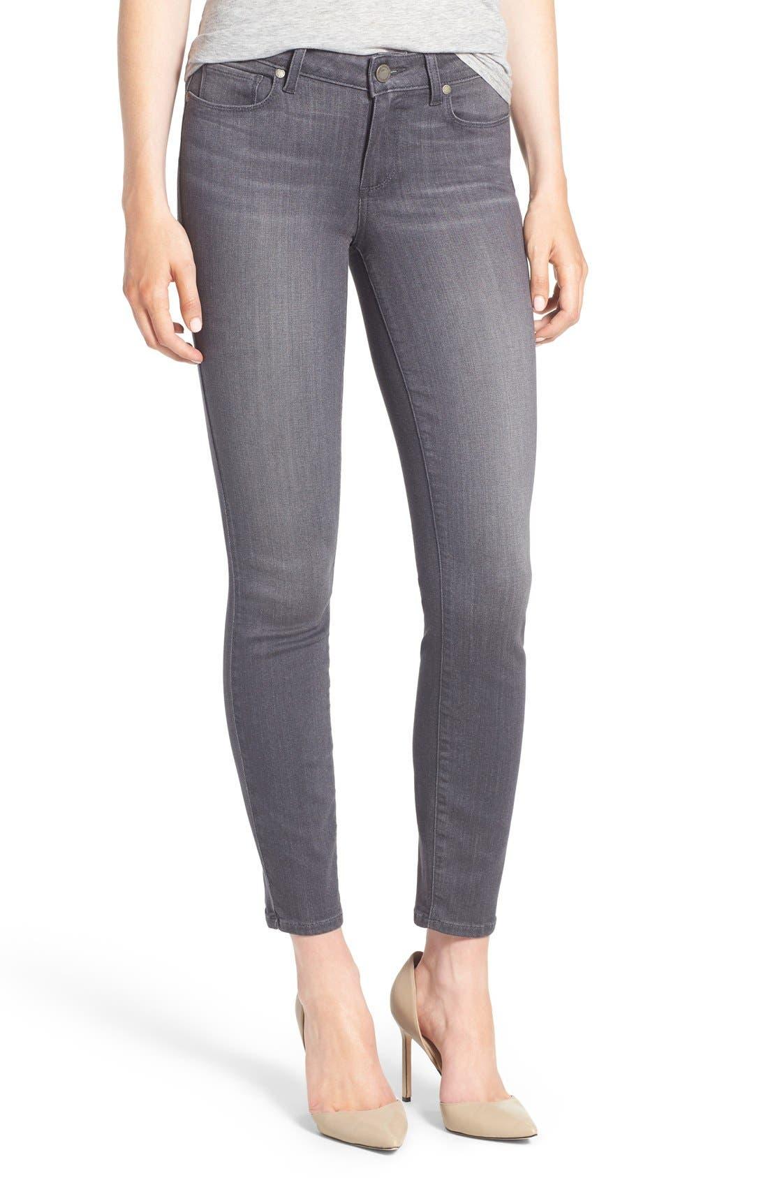 Alternate Image 1 Selected - PAIGE Transcend - Verdugo Ankle Jeans (Bonnie Grey) (Nordstrom Exclusive)